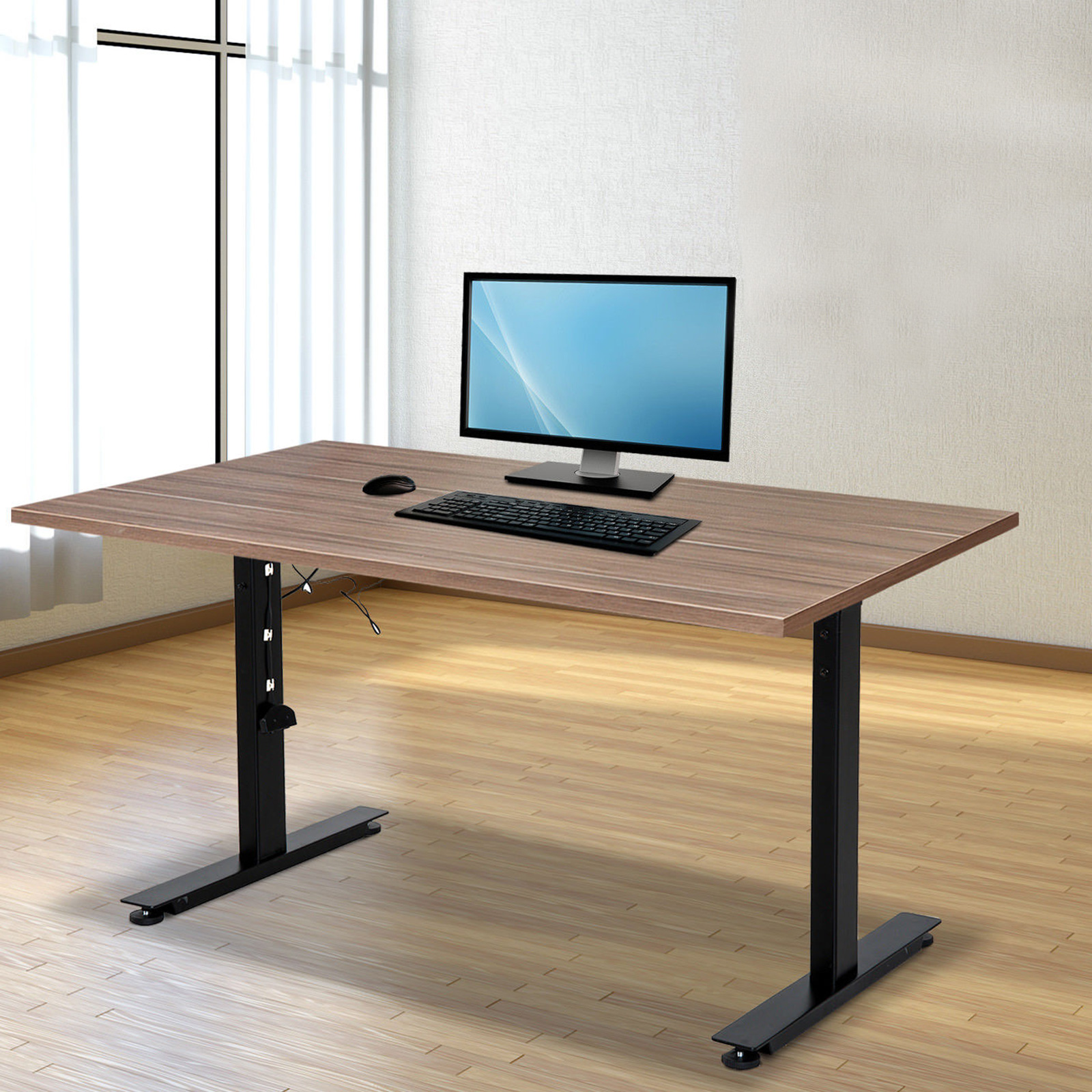 Electric-Sit-Stand-Standing-Desk-Frame-Dual-Motor-Stable-Heavy-Duty-Premium thumbnail 36