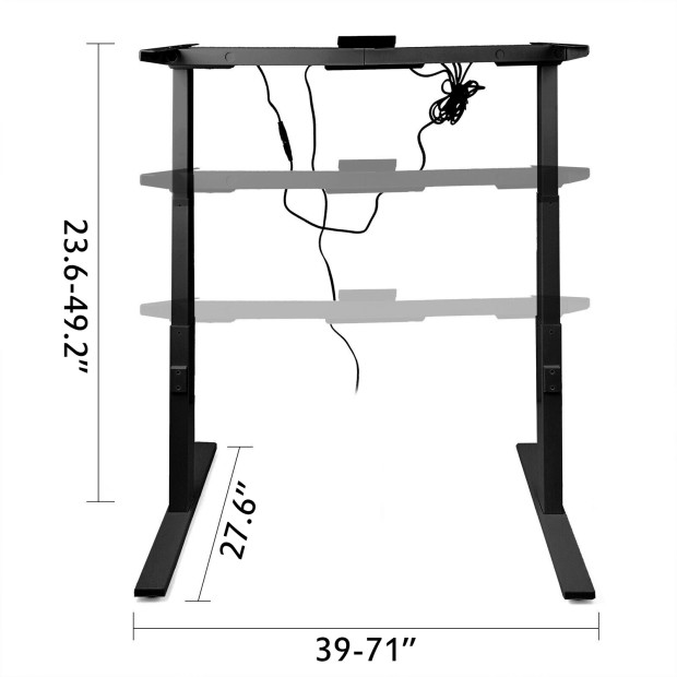 Electric-Sit-Stand-Standing-Desk-Frame-Dual-Motor-Stable-Heavy-Duty-Premium thumbnail 26
