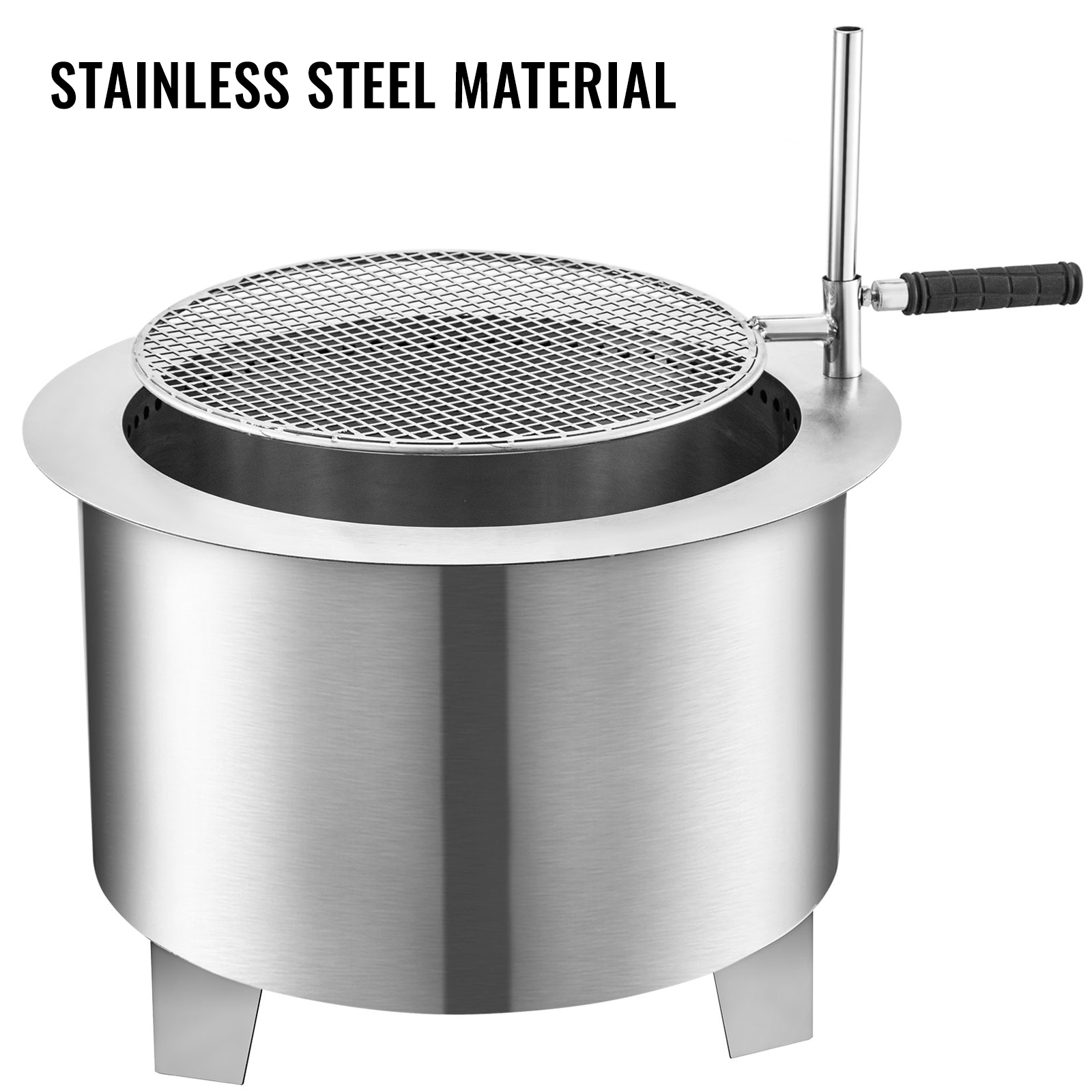 NICEXMAS 2Pcs Outdoor Fire Pit Stainless Steel Portable Fire Pits Burn Barrel Incinerator Wood Burning and Low Smoke for Home Yard