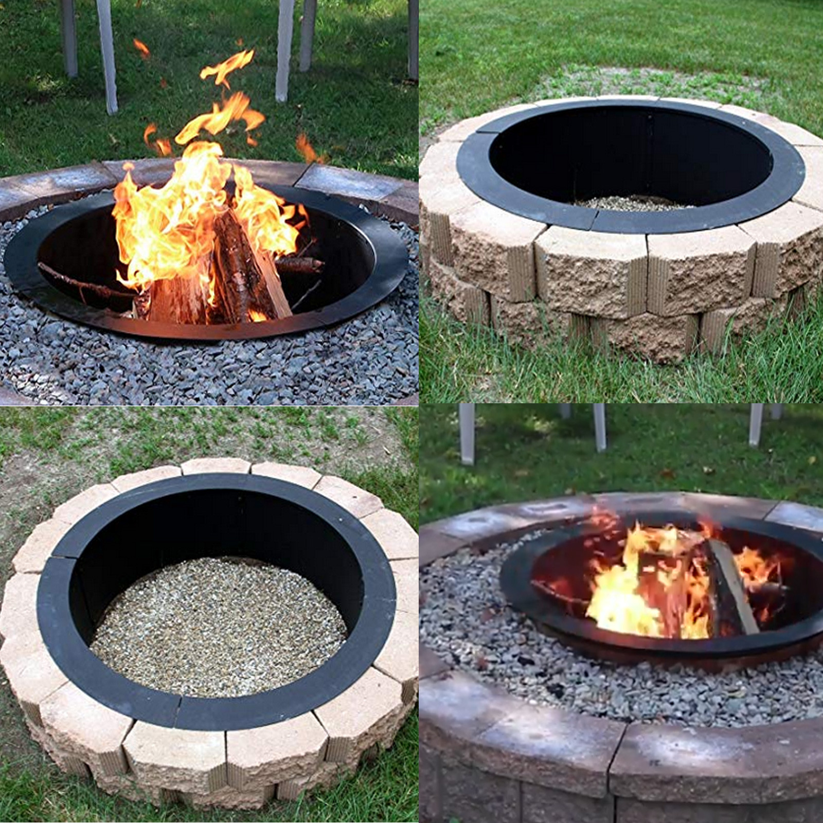 Fire Pit Bbq Table Grill Patio Heater