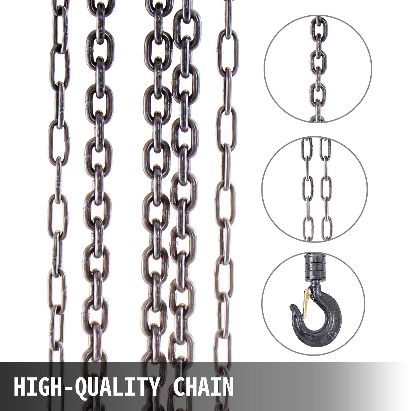 Cranes & Hoists Chain Hoist Chain Block Hoist 11000lbs/5ton,Manual ...