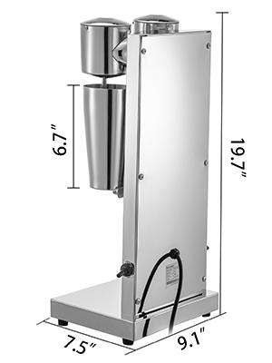 milkshake maker kit,stainless steel,double head