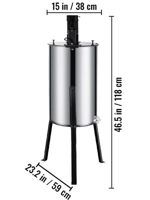 3 Frame, Stainless Steel, Electric Honey  Extractor