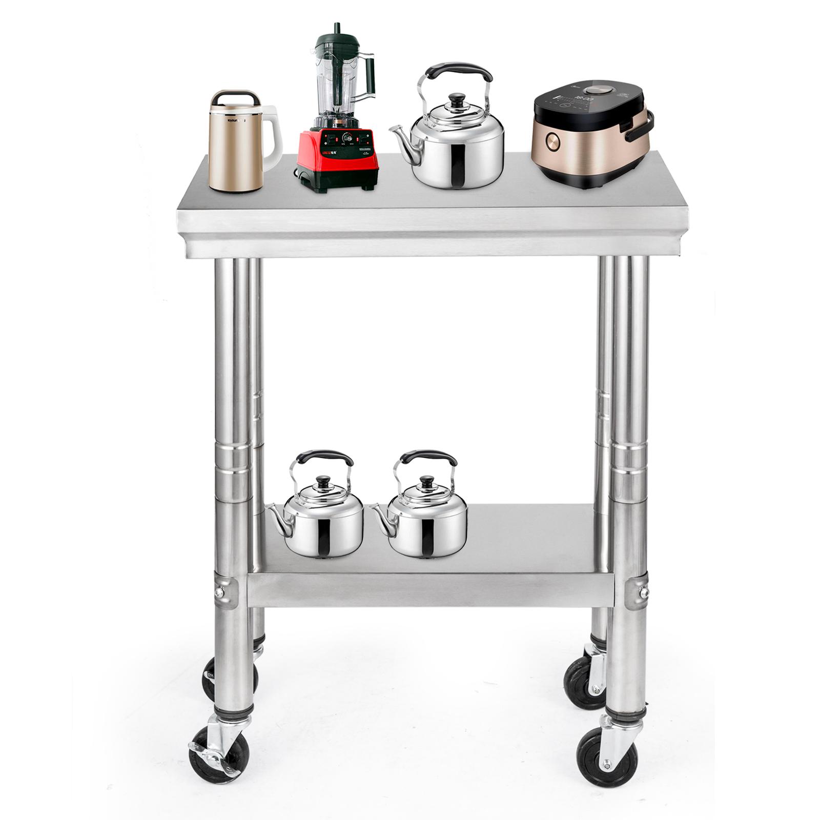 Edelstahl Küchentisch Arbeitstisch Gastro Tisch