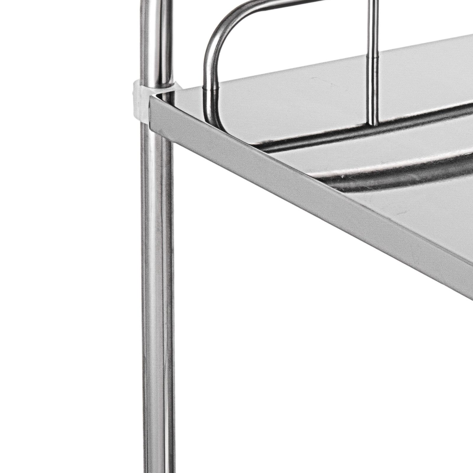thumbnail 19 - Rolling Storage Cart Medical Salon Trolley Pedestal Rolling Cart Stainless Steel