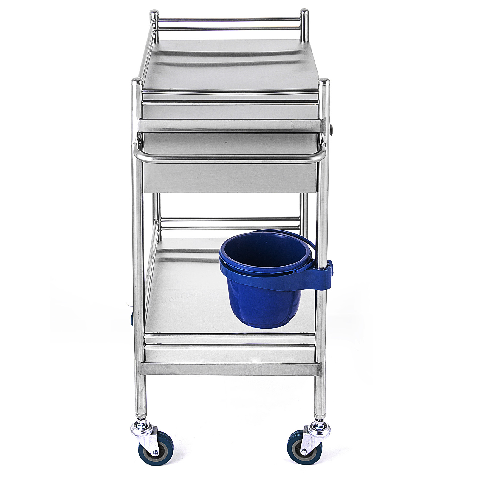 thumbnail 48 - Rolling Storage Cart Medical Salon Trolley Pedestal Rolling Cart Stainless Steel