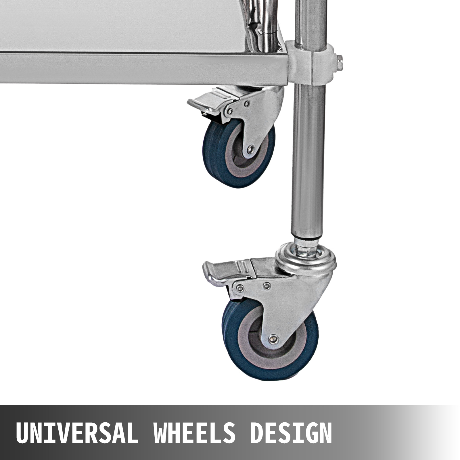 thumbnail 42 - Rolling Storage Cart Medical Salon Trolley Pedestal Rolling Cart Stainless Steel