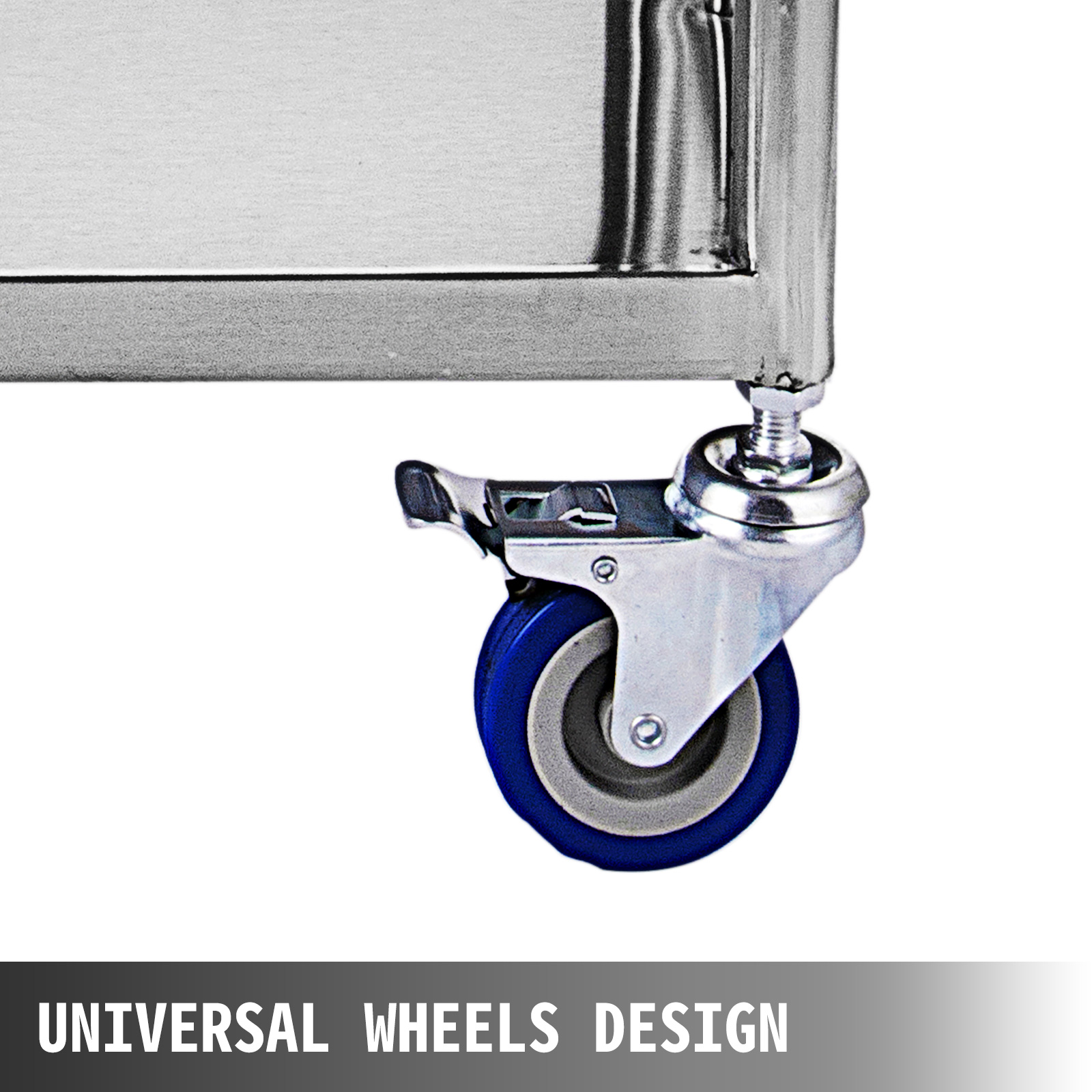 thumbnail 66 - Rolling Storage Cart Medical Salon Trolley Pedestal Rolling Cart Stainless Steel