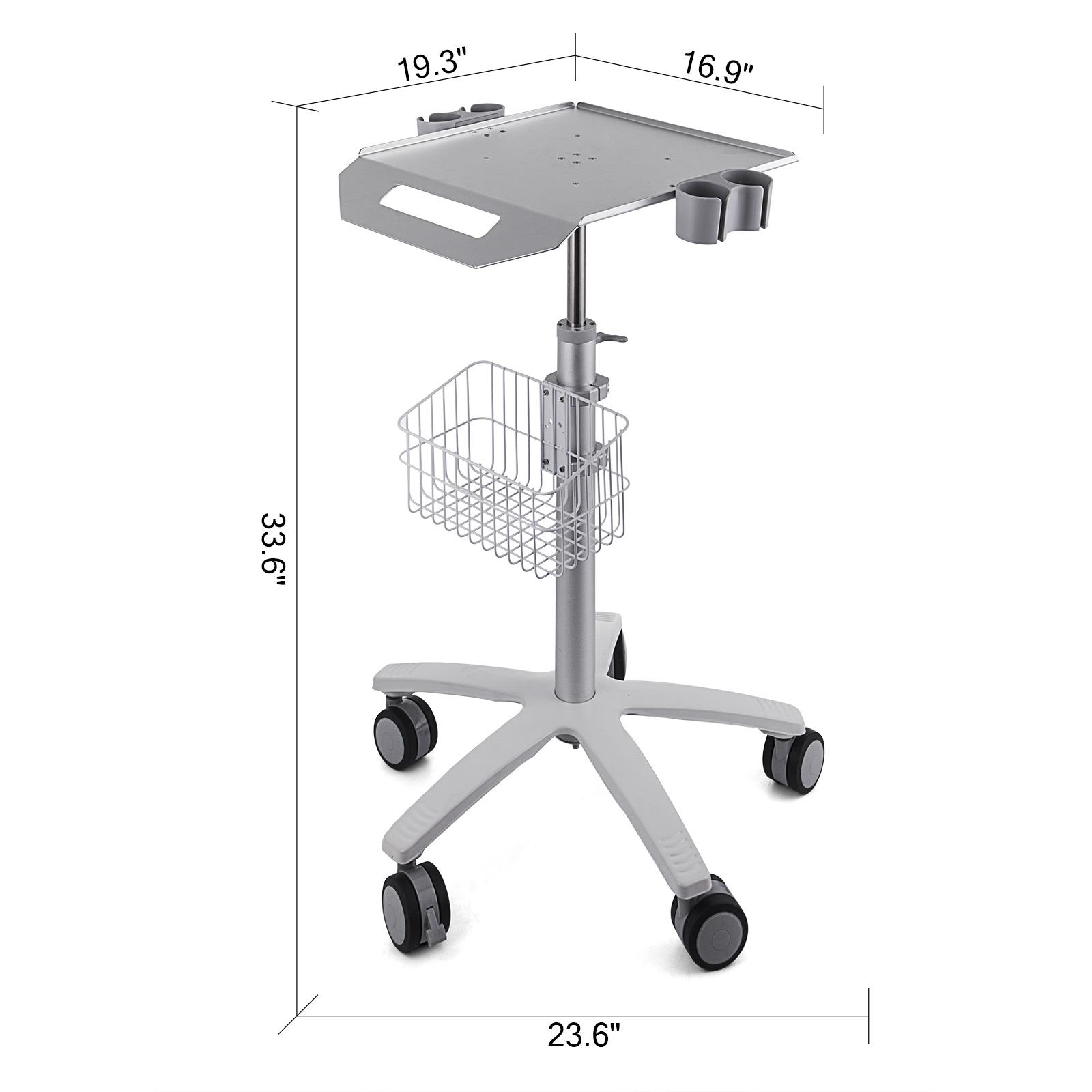 thumbnail 86 - Rolling Storage Cart Medical Salon Trolley Pedestal Rolling Cart Stainless Steel