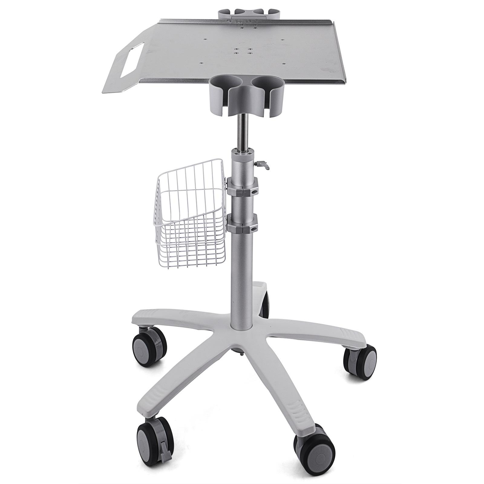 thumbnail 88 - Rolling Storage Cart Medical Salon Trolley Pedestal Rolling Cart Stainless Steel
