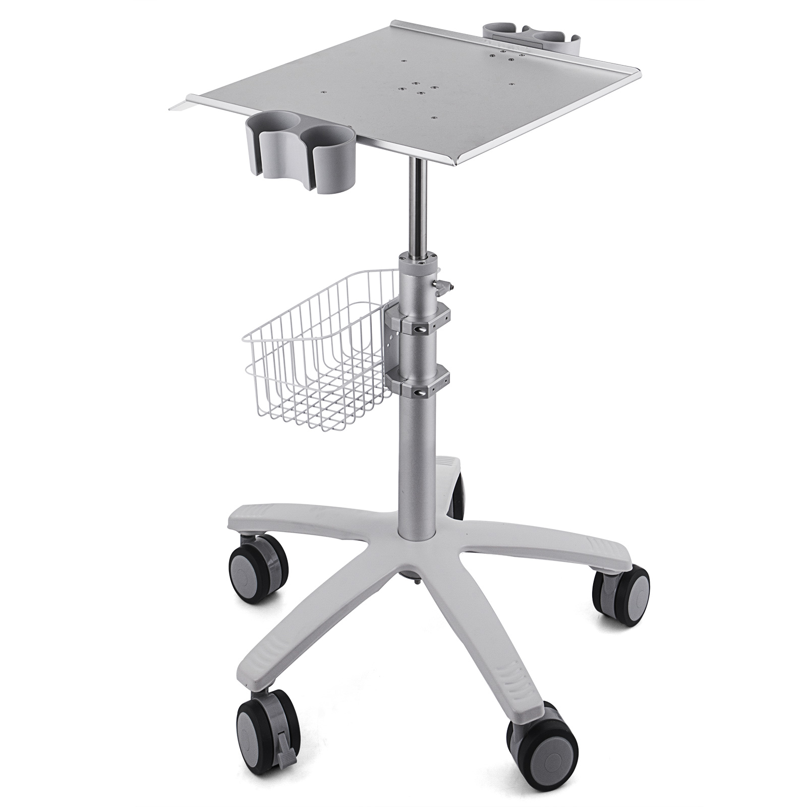 thumbnail 89 - Rolling Storage Cart Medical Salon Trolley Pedestal Rolling Cart Stainless Steel