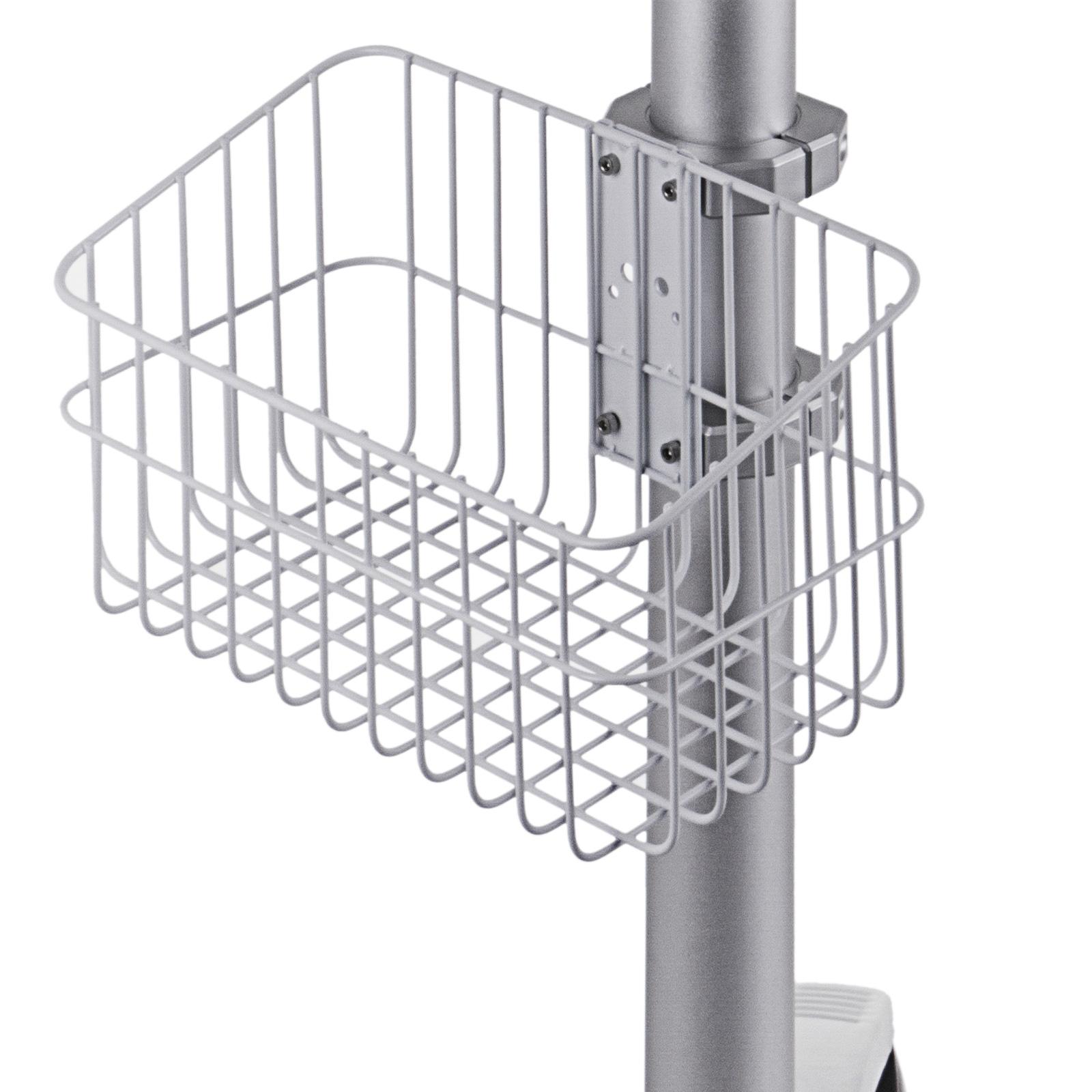 thumbnail 91 - Rolling Storage Cart Medical Salon Trolley Pedestal Rolling Cart Stainless Steel
