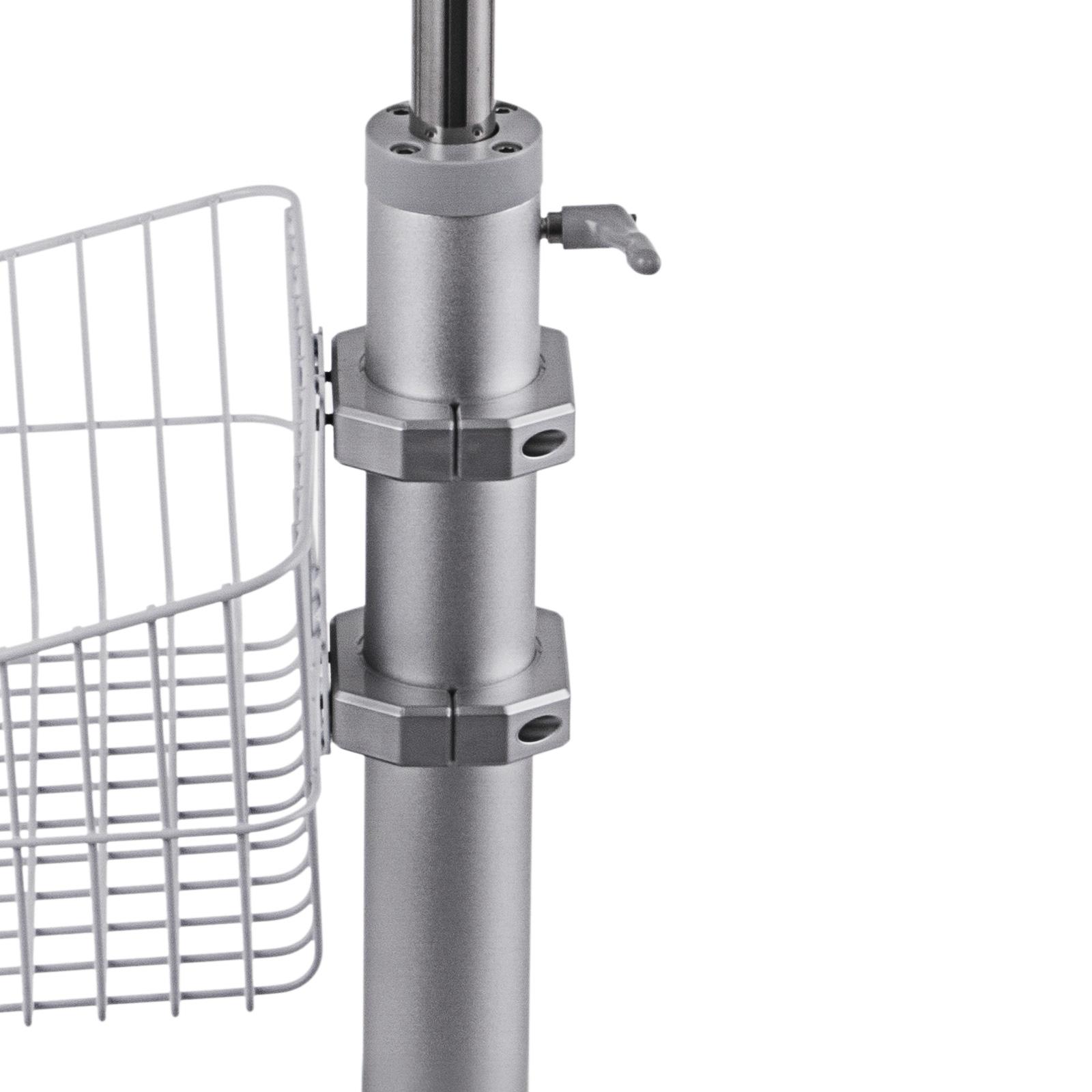 thumbnail 93 - Rolling Storage Cart Medical Salon Trolley Pedestal Rolling Cart Stainless Steel