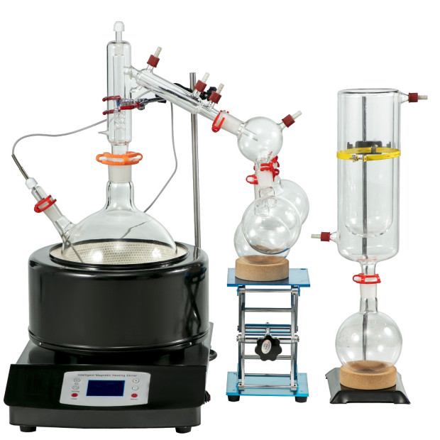 2L, Distillation Glassware Kit, Heating Mantle