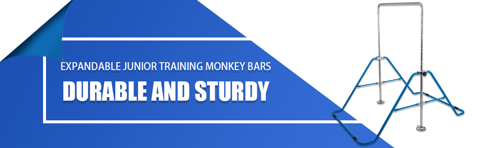 Details about  /Kids Gymnastics Bar Horizontal Bar Expandable Kip Training Jungle Monkey Bar
