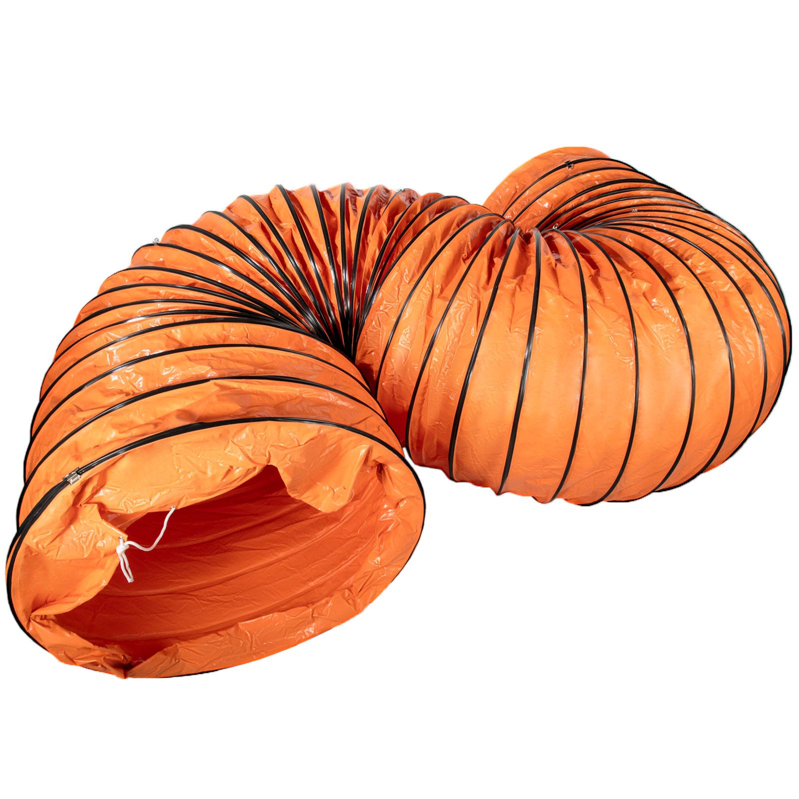 Warmluftschlauch Lufttransportschlauch Spiralschlauch Gebläseschlauch 7,6M