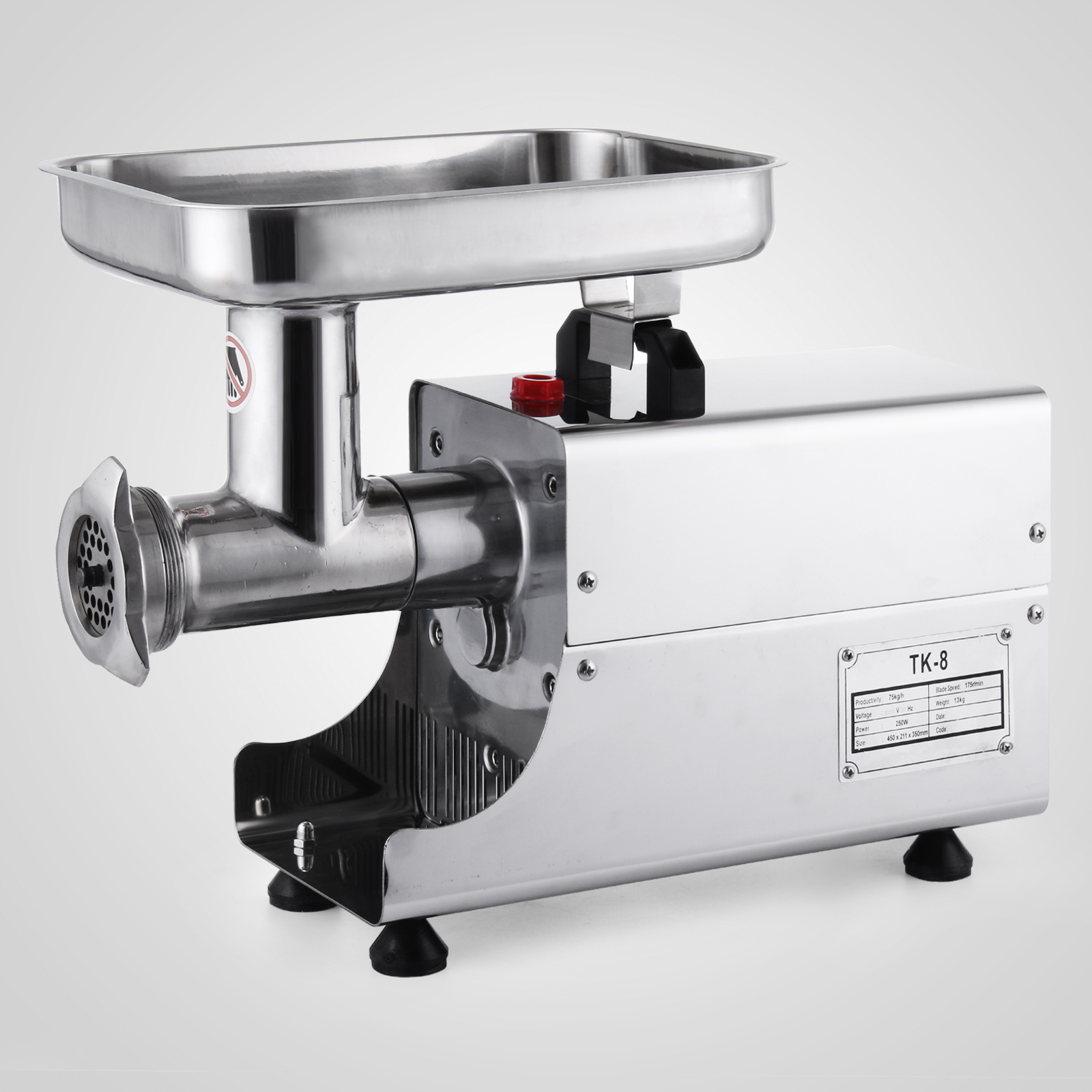 Kitchen Heavy Duty Stainless Steel Electric Meat Grinder 80Kg/H ...