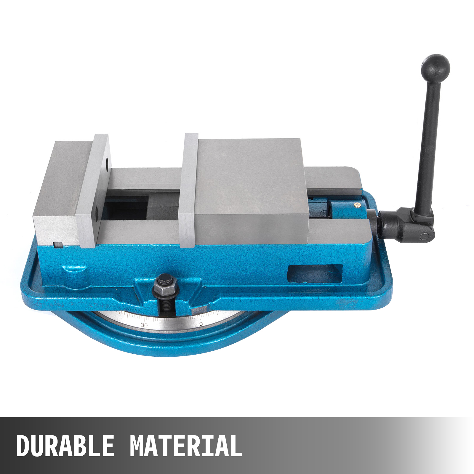 VEVOR 80MM Swivel Base Bench Vise Rotating Vice Clamping Vise 360 Degrees Precise Scale Hardened Metal Drill Press