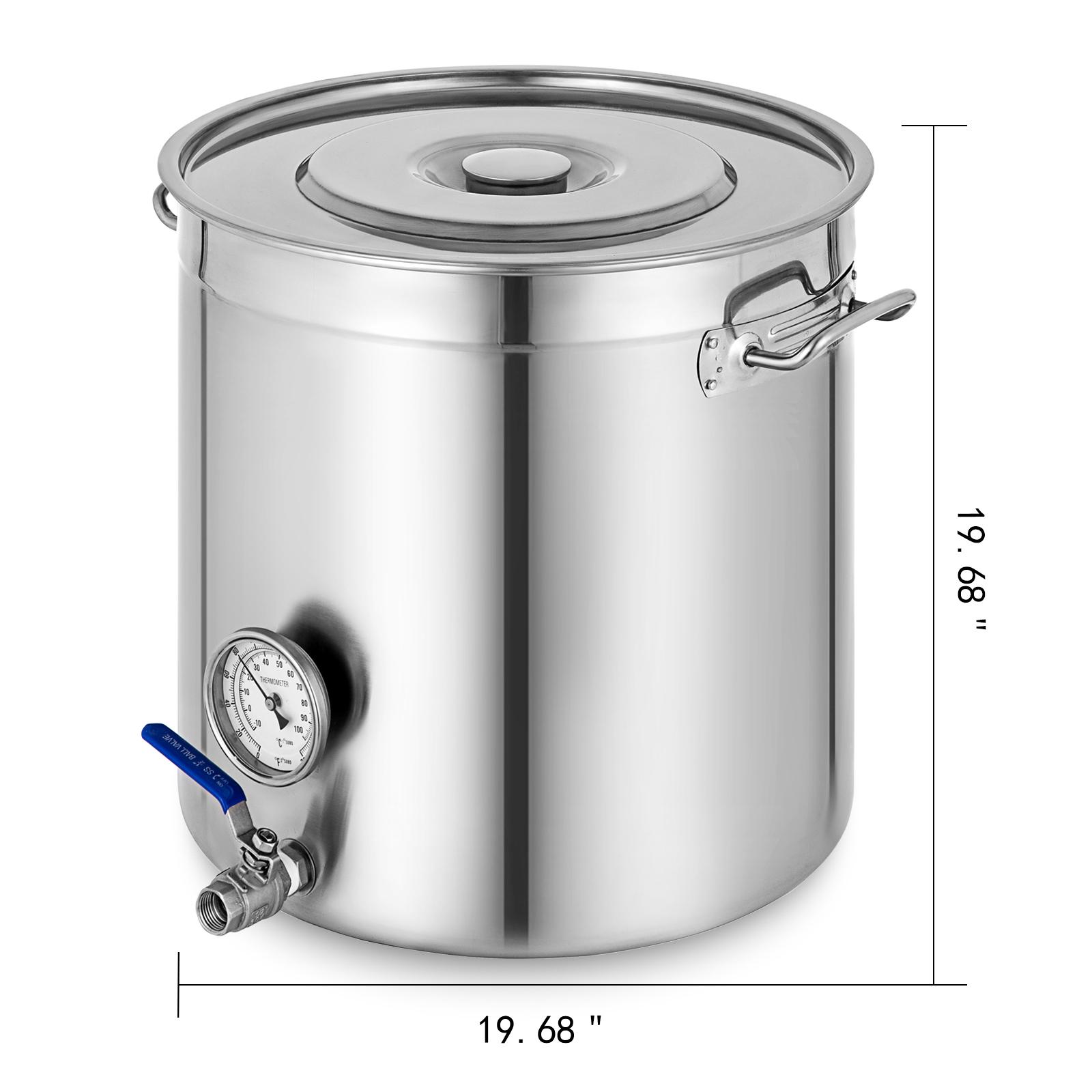 Cocina Olla Cacerola con Termometro 98L Bateria de Cocina