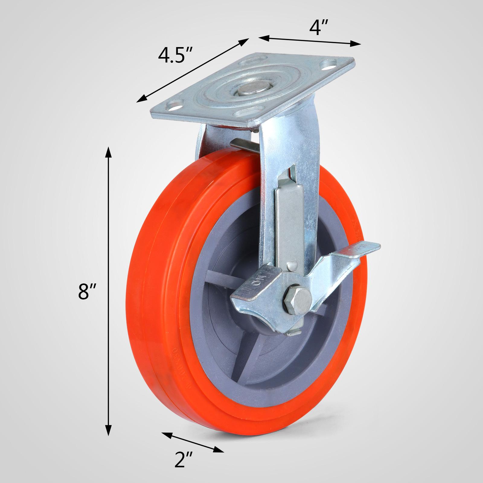 4 x 200mm ruedas de poliuretano giratorias muebles ruedas - Ruedas giratorias para muebles ...