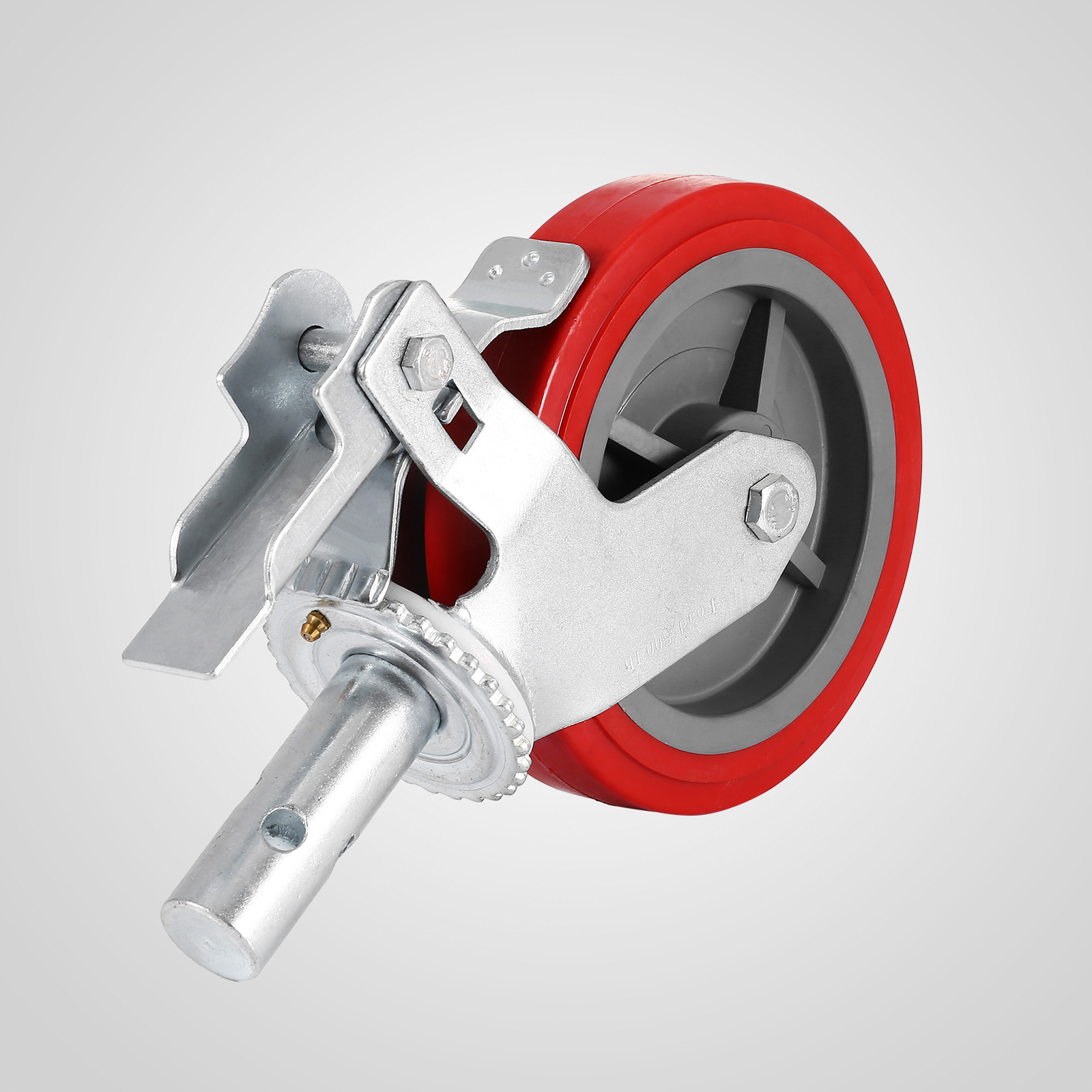 "Alloy 8"" x 2"" Polyurethane Castors Scaffold Wheels Set of 4 Casters"