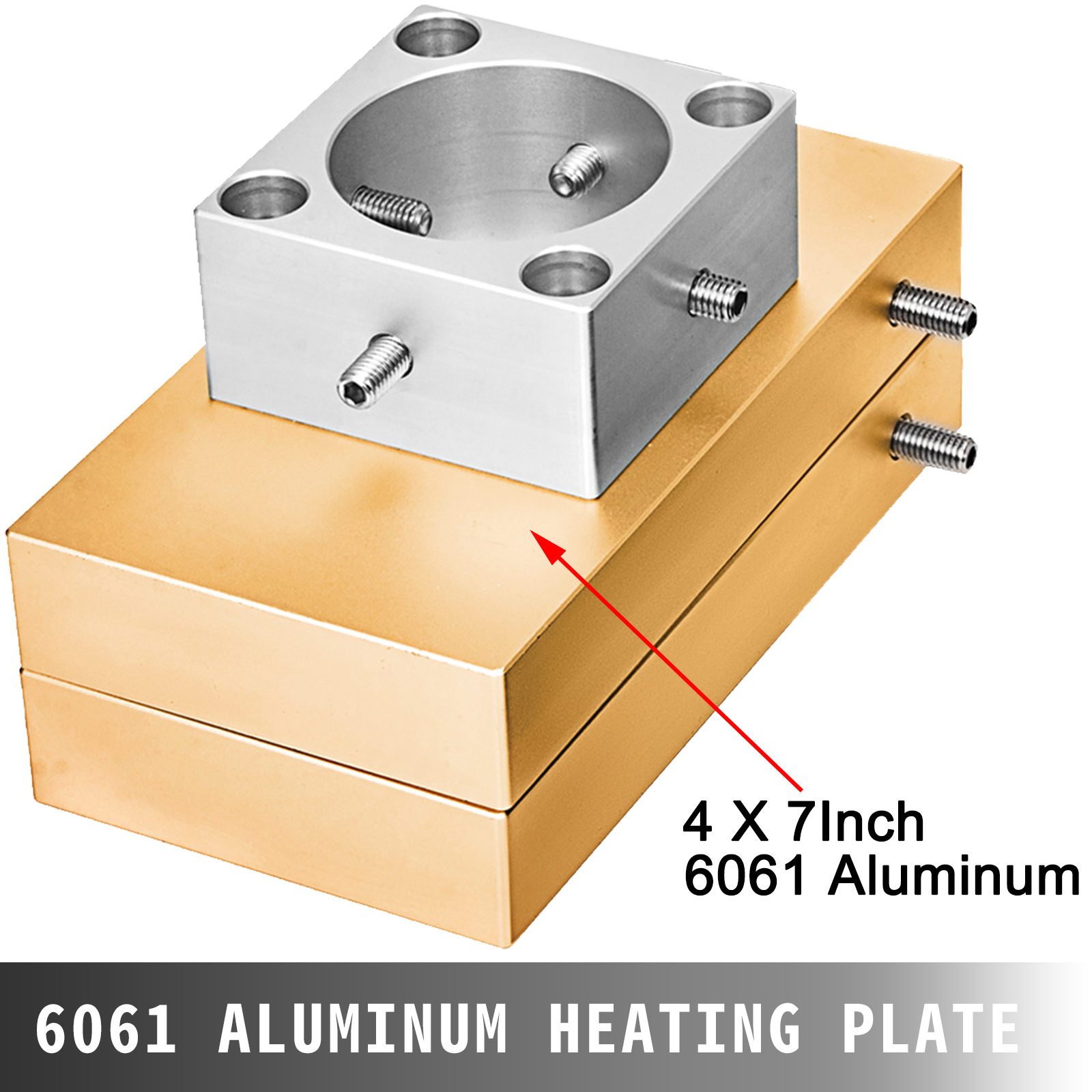 """4x 7/"""" Rosin Press Plate Kit 4 Heating Rods Suits for 20 Ton Hydraulic Press"""