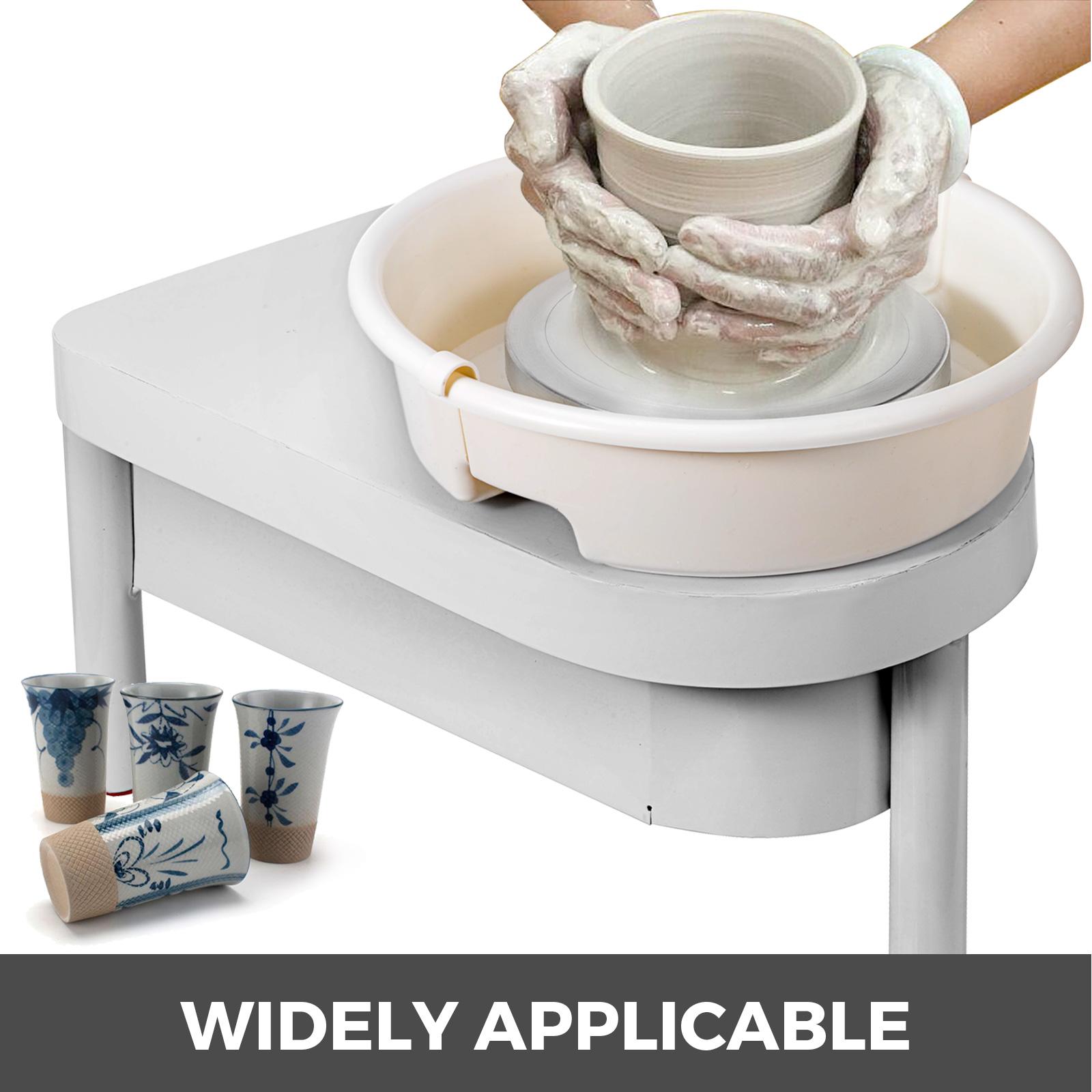 VEVOR Ruota per Ceramica Elettrica 280W con Pedale Macchina per Ceramica Ruota per Ceramica 25cm Macchina per Ruota per Ceramica Macchina per Ruota in Ceramica Piedini Regolabili con Set di Scultura