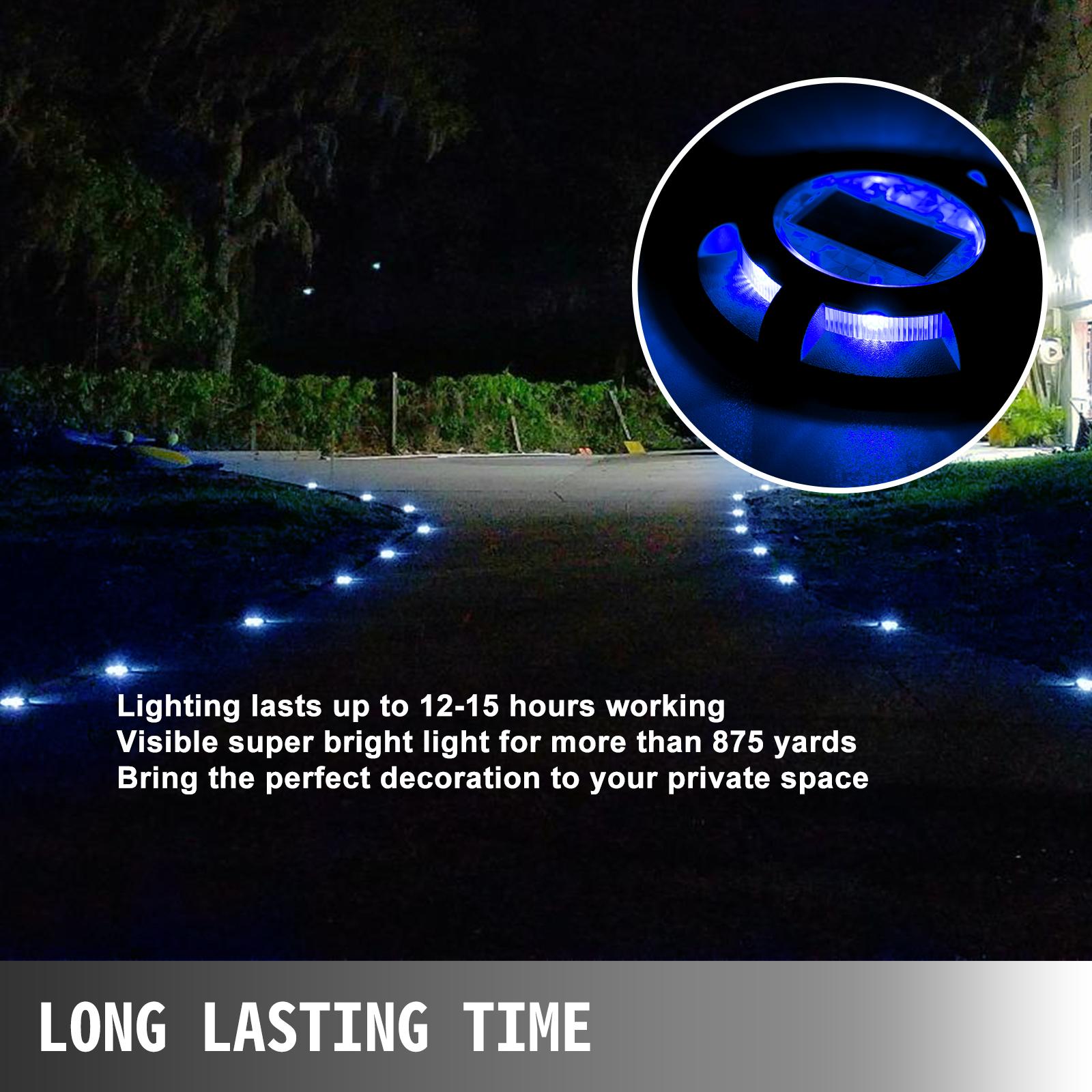 Solar Deck Lights Driveway Lights Solar Deck Light Led 16 Pack for Sidewalk Blue