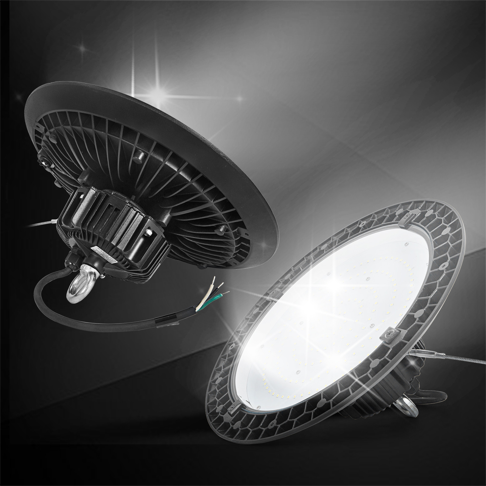 4 Bulb Lamp T8 Led High Bay Warehouse Shop Garage: UFO LED High Bay Light Fixture Warehouse Shop Lights