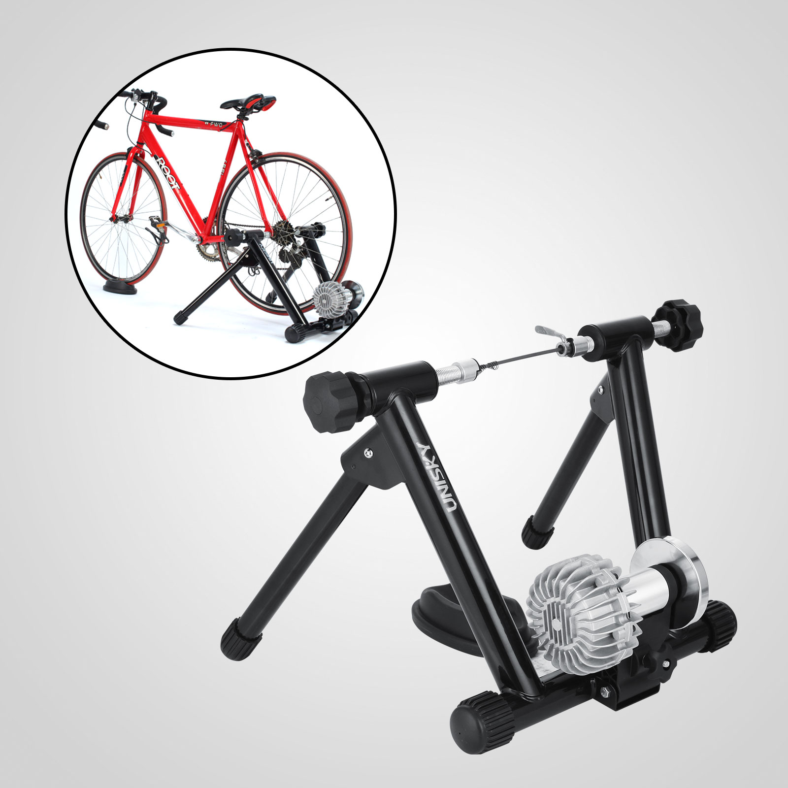 Indoor Cycling Trainer Za: Indoor Bike Trainer Stand Fluid Resistance Stationary