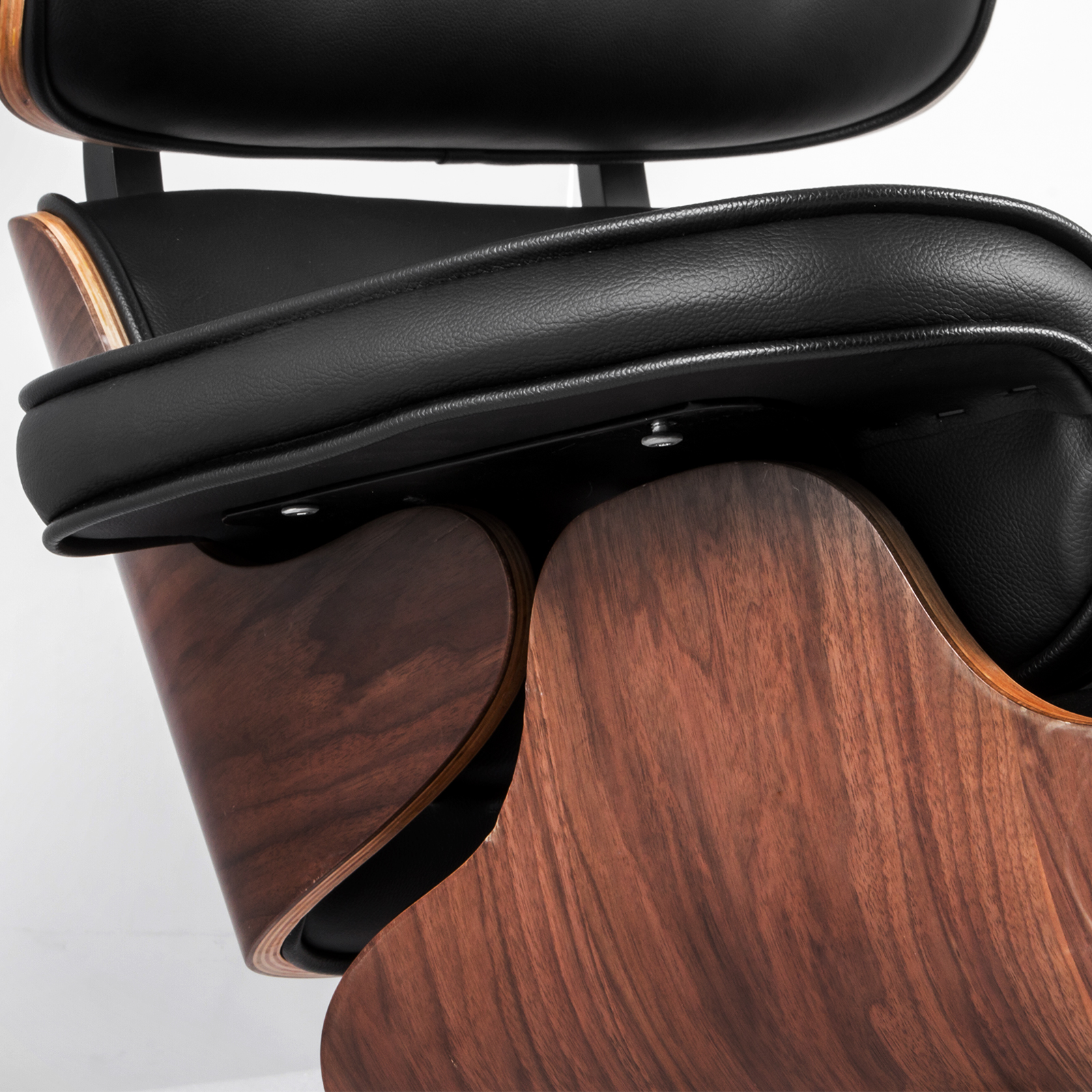 Classic Style Lounge Chair And Ottoman Top Grain Leather