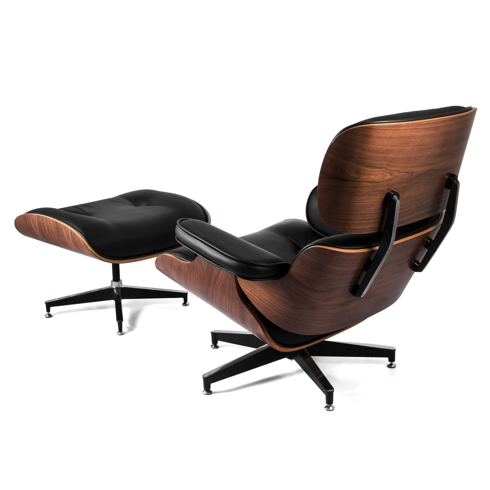 Classic Lounge Chair And Ottoman Pu Leather Comfortable
