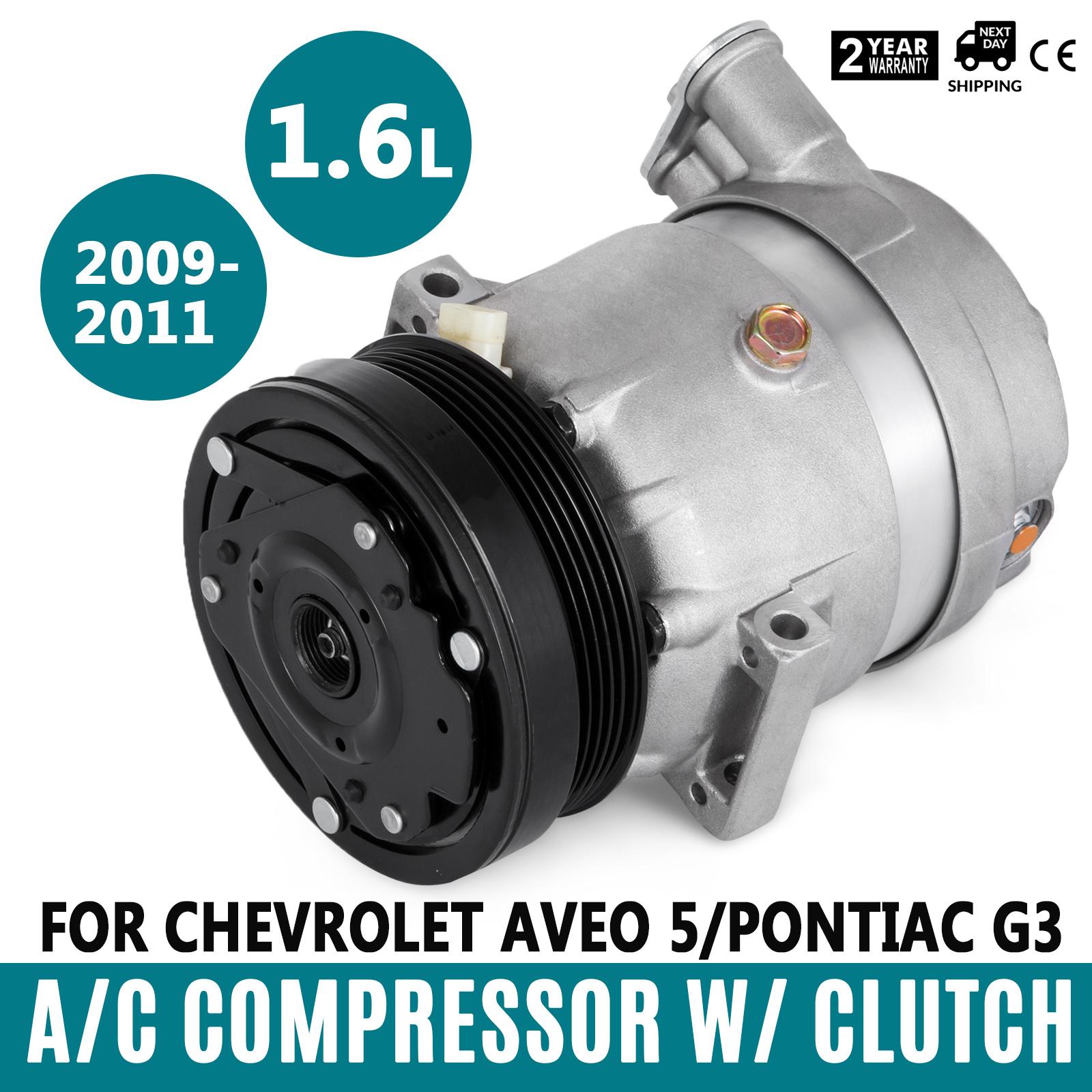 1 Year Warranty Aveo5 Pontiac G3 G-3 Wave AC Compressor Fits Chevy Aveo