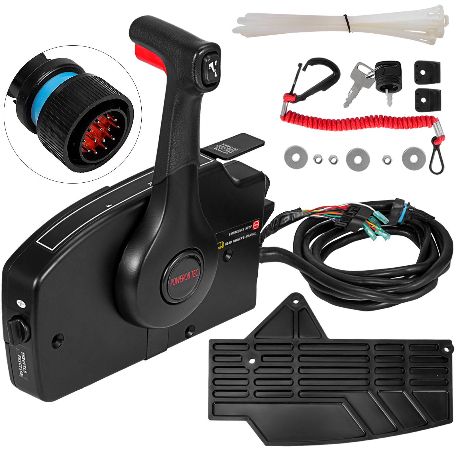 Details about For Mercury Outboard Mechanical Side Mount Remote Control 14  Pin 881170A13 USA