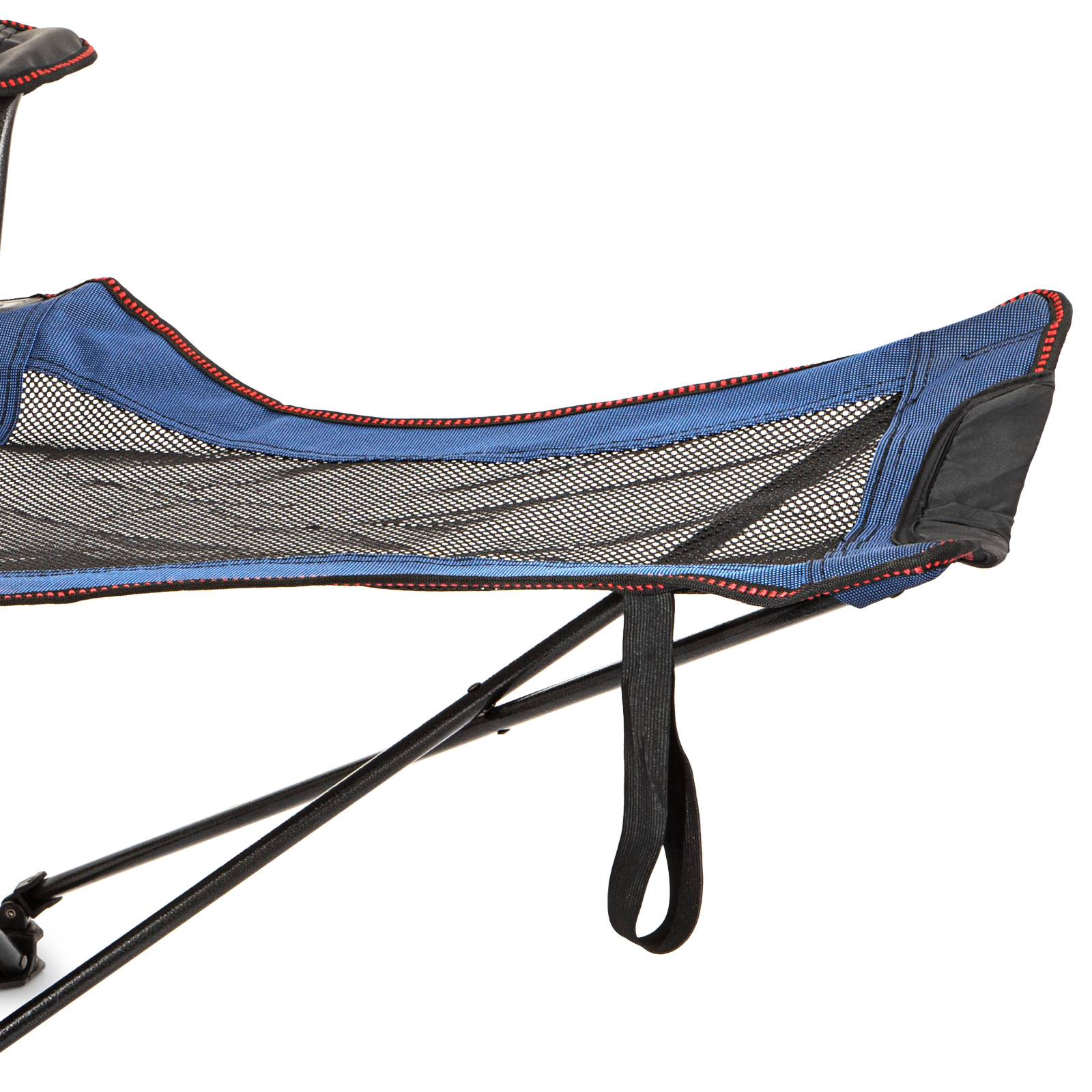 Blue Reclining Folding Camp Chair With Footrest Barcelona