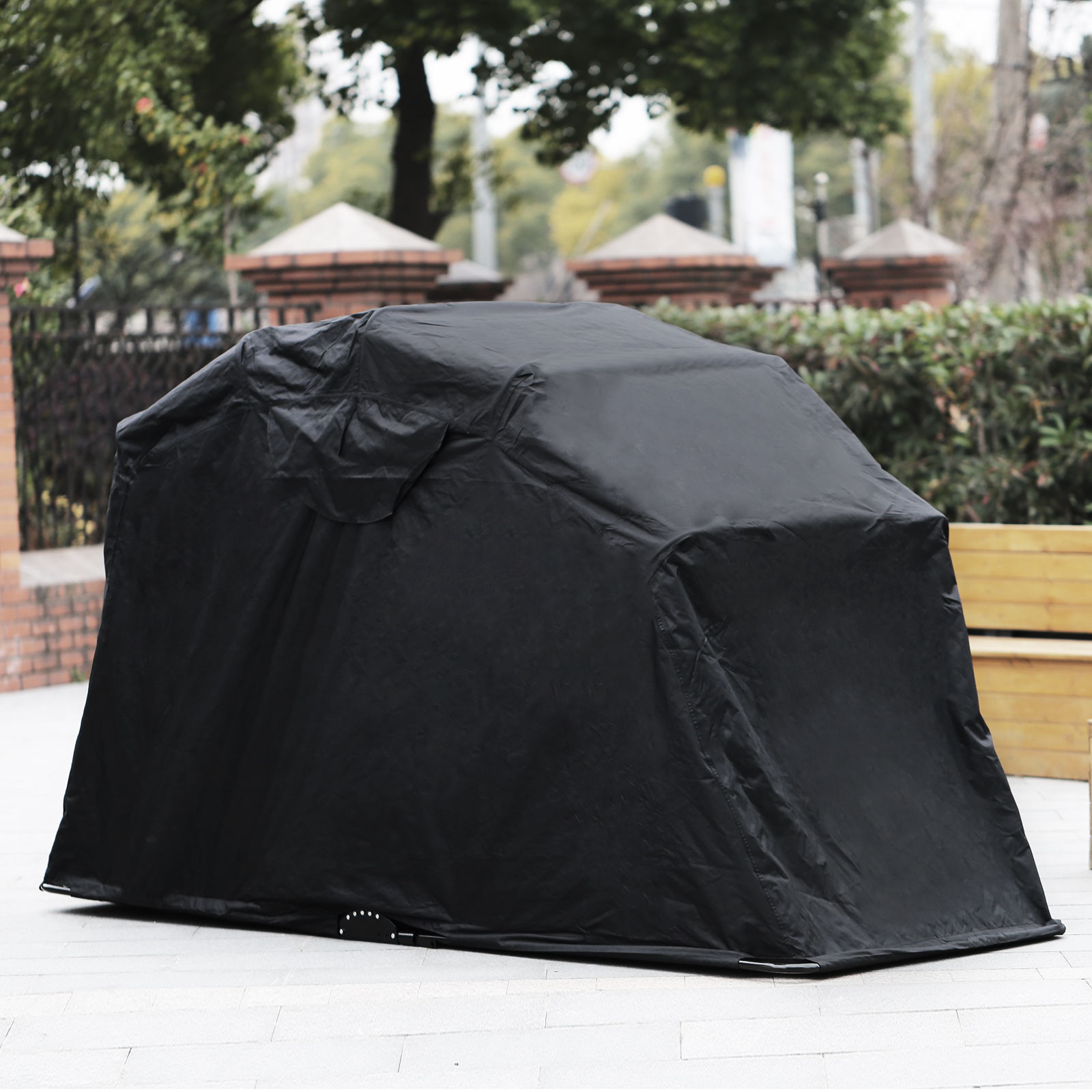 Hard Covered Bike Shelters : Large motorbike bike shelter cover outdoor shed garage