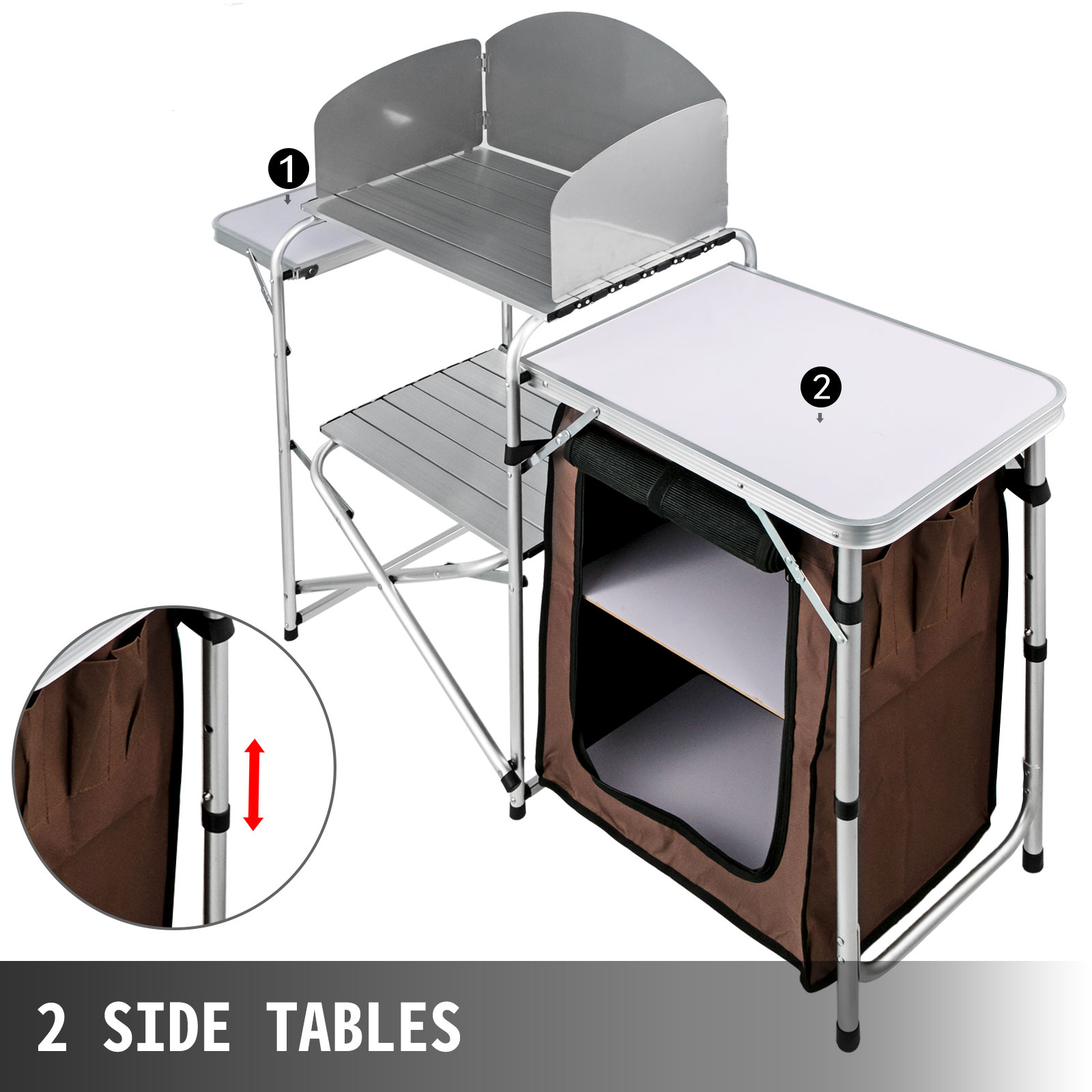 camping outdoor kitchen camping cook table 2tier camping