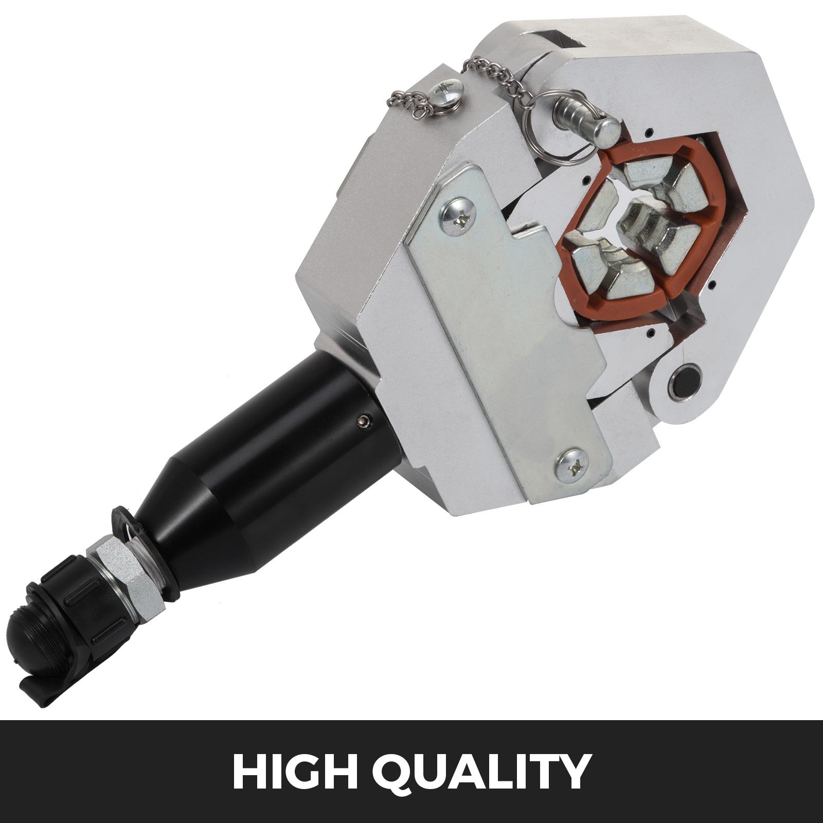 Hydraulic-A-C-Hose-Crimper-Tool-Kit-Hand-Tool-Crimping-Set-Hose-Fittings-7-Dies thumbnail 2