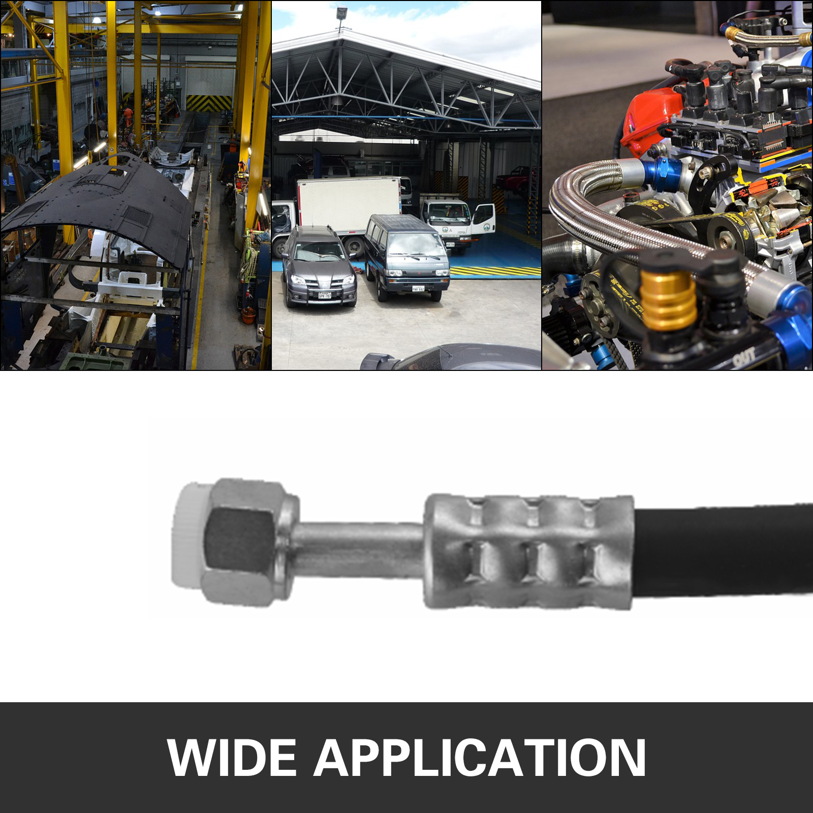 Hydraulic-A-C-Hose-Crimper-Tool-Kit-Hand-Tool-Crimping-Set-Hose-Fittings-7-Dies thumbnail 7