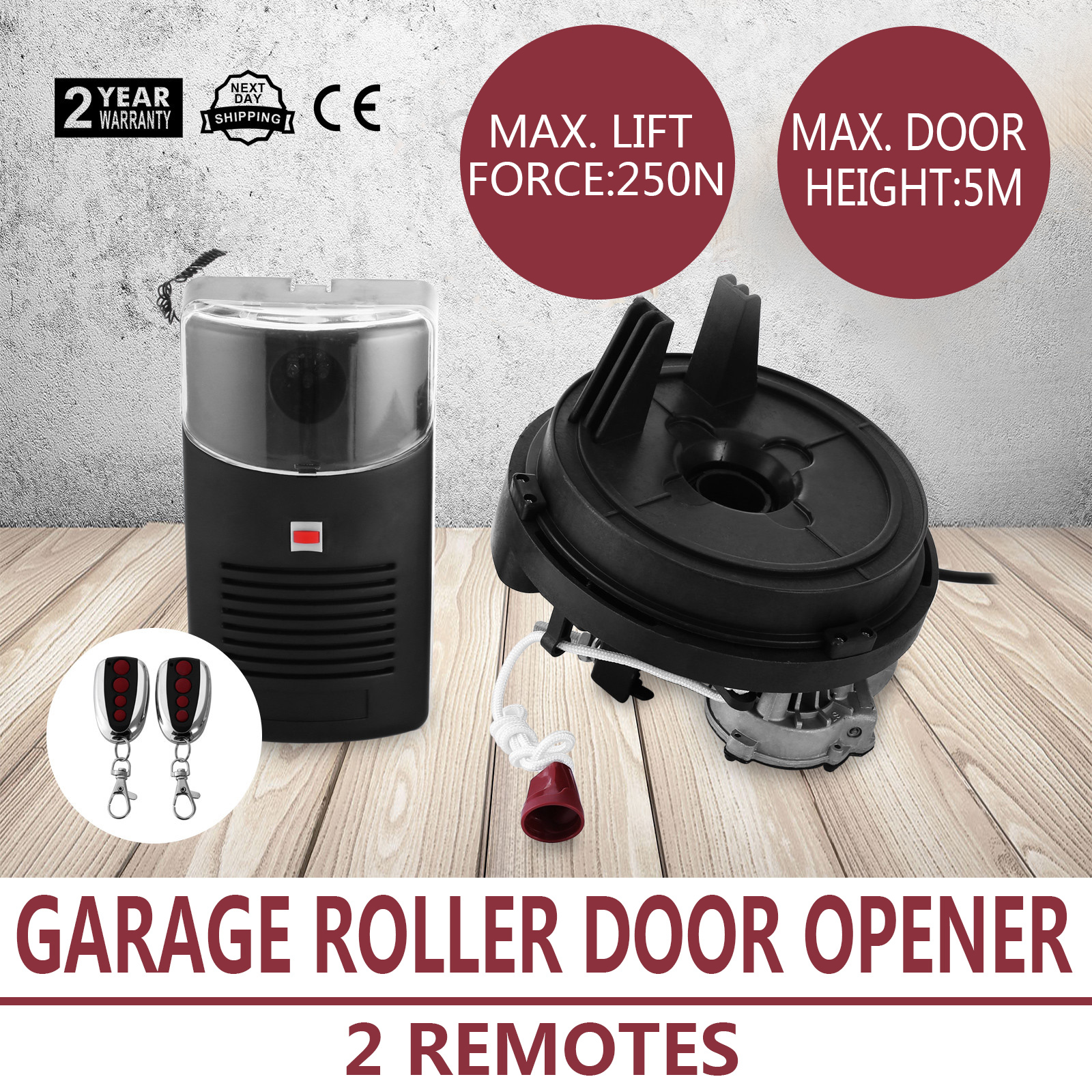Automatic Garage Door Opener Roller Remote Stable Led
