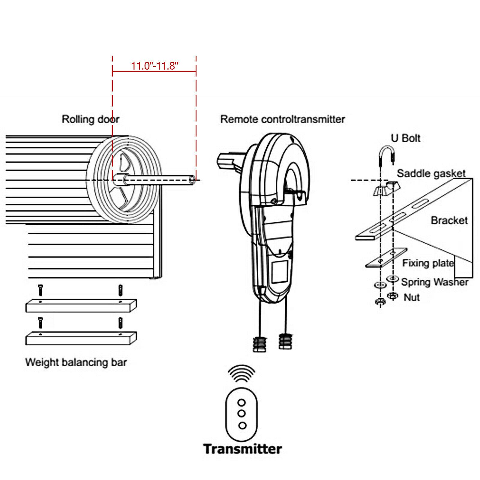 Garage Door Automatic Light: GARAGE ROLLER DOOR OPENER LED LIGHT SOFT STOP POWERFUL