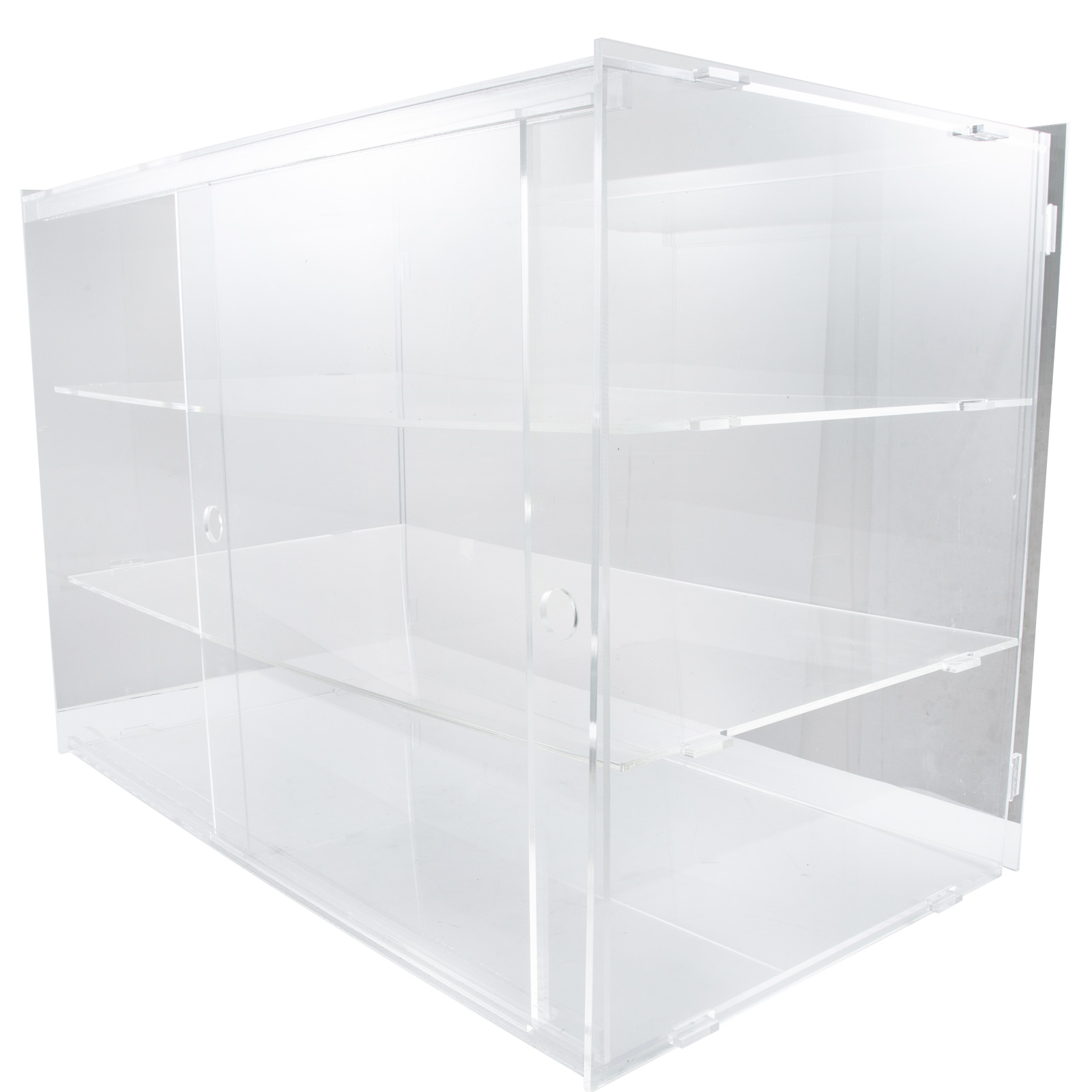 thumbnail 178 - 2-3-4-Shelves-Acrylic-Display-Cabinet-Glued-Unassembled-Bakery-Clear-Pastry