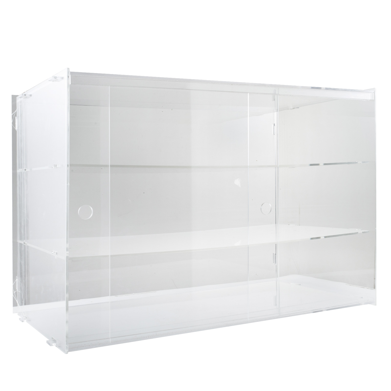 thumbnail 177 - 2-3-4-Shelves-Acrylic-Display-Cabinet-Glued-Unassembled-Bakery-Clear-Pastry