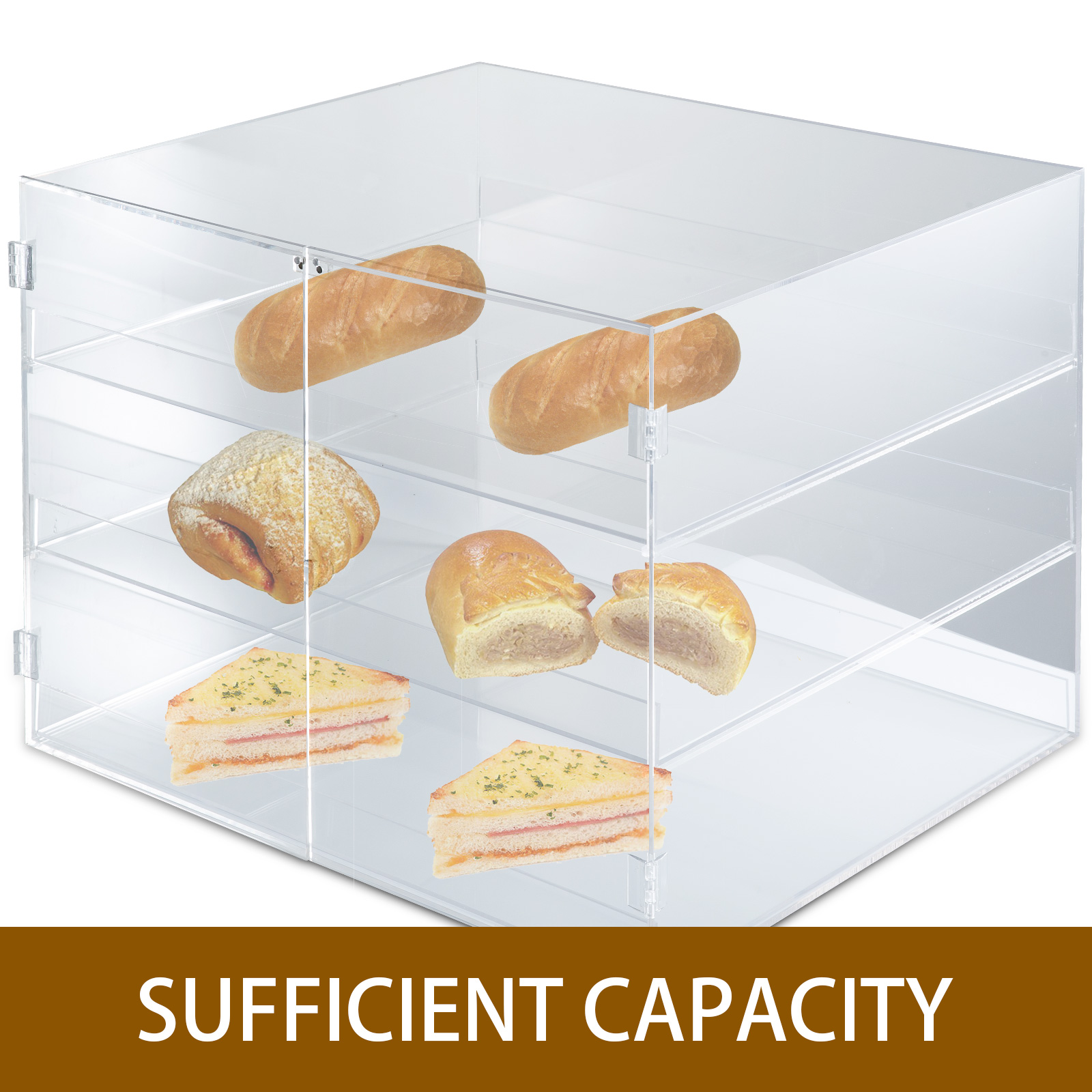 thumbnail 158 - 2-3-4-Shelves-Acrylic-Display-Cabinet-Glued-Unassembled-Bakery-Clear-Pastry