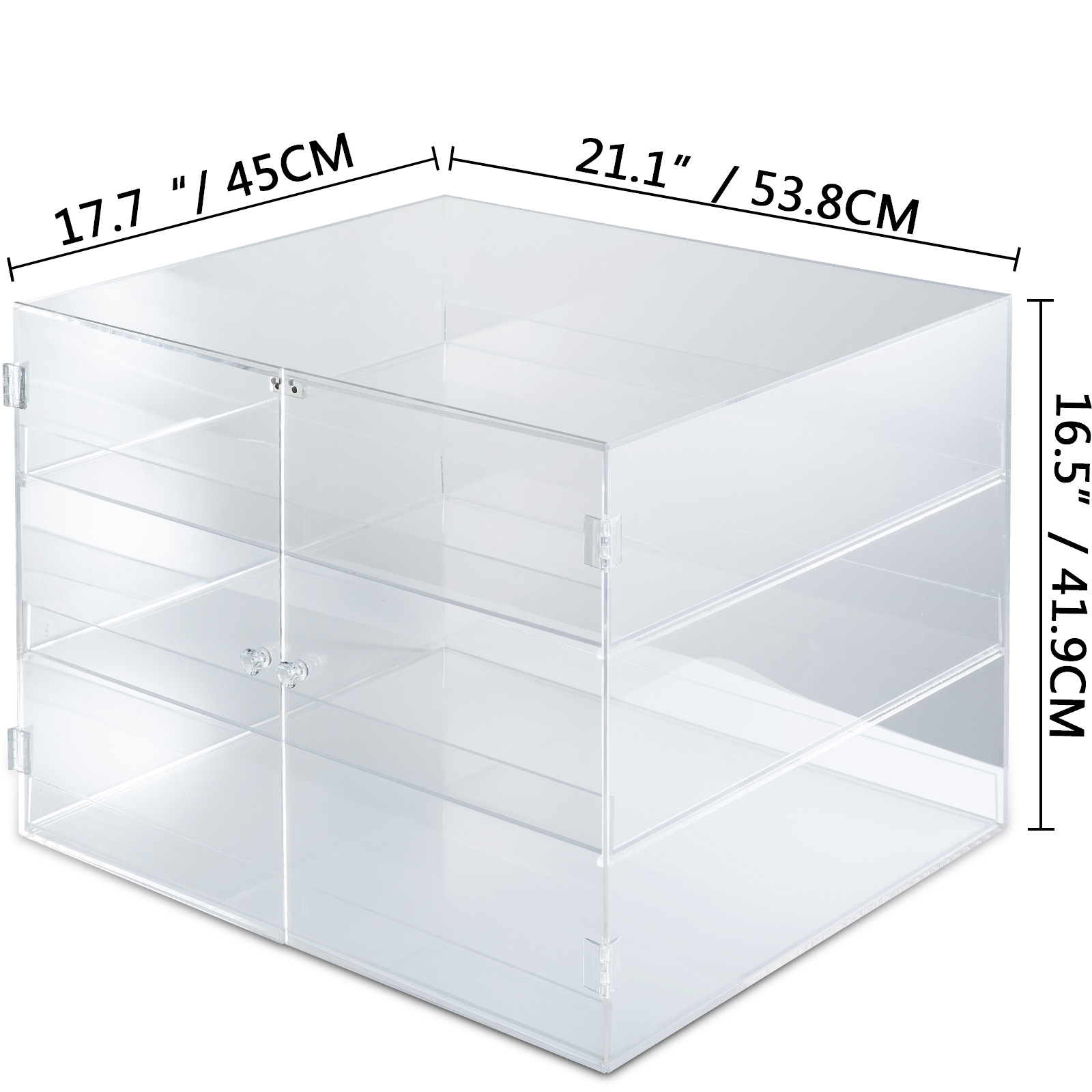 thumbnail 164 - 2-3-4-Shelves-Acrylic-Display-Cabinet-Glued-Unassembled-Bakery-Clear-Pastry