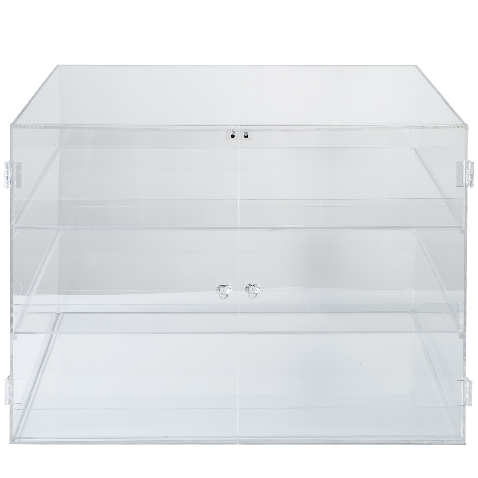 thumbnail 165 - 2-3-4-Shelves-Acrylic-Display-Cabinet-Glued-Unassembled-Bakery-Clear-Pastry