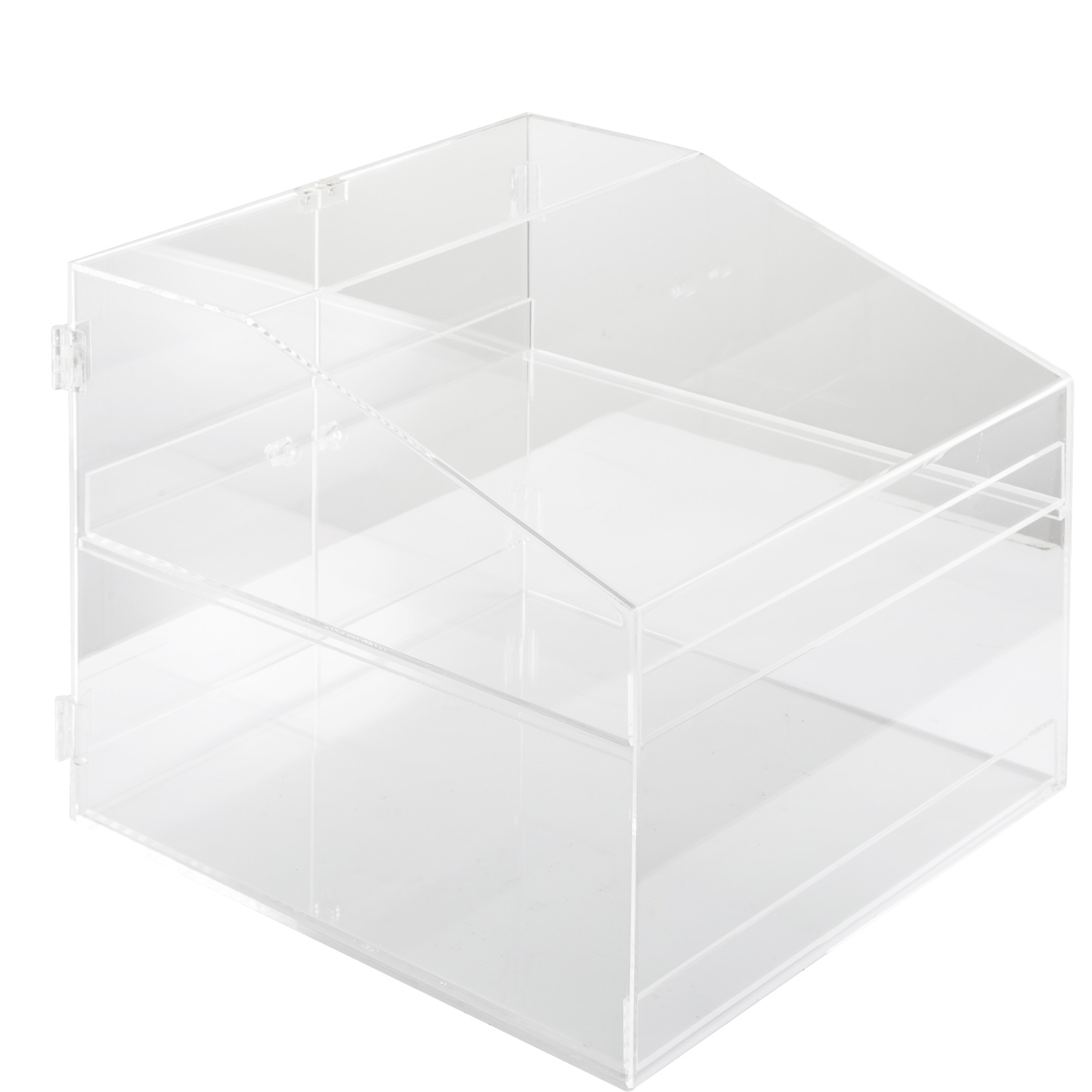 thumbnail 59 - 2-3-4-Shelves-Acrylic-Display-Cabinet-Glued-Unassembled-Bakery-Clear-Pastry