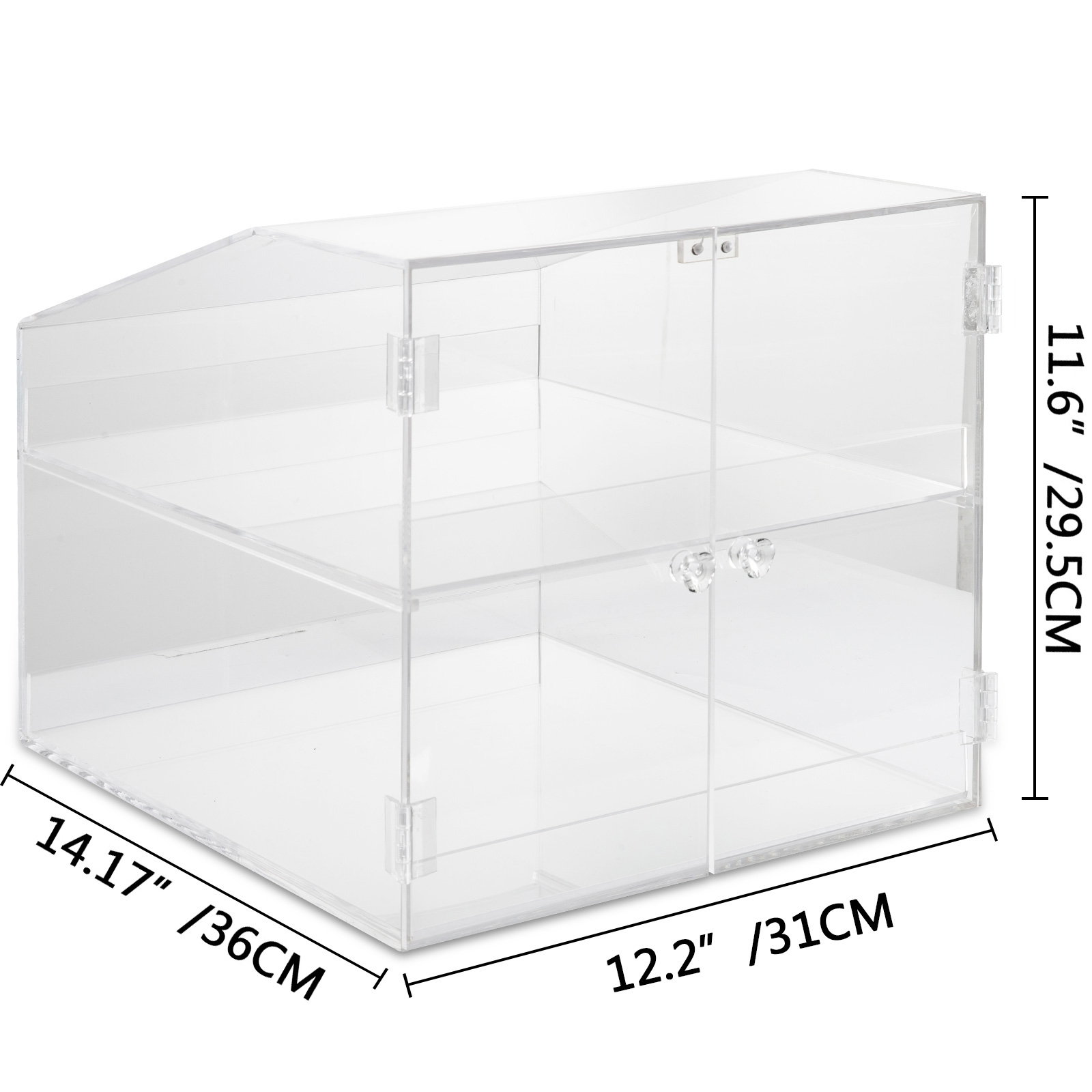 thumbnail 56 - 2-3-4-Shelves-Acrylic-Display-Cabinet-Glued-Unassembled-Bakery-Clear-Pastry