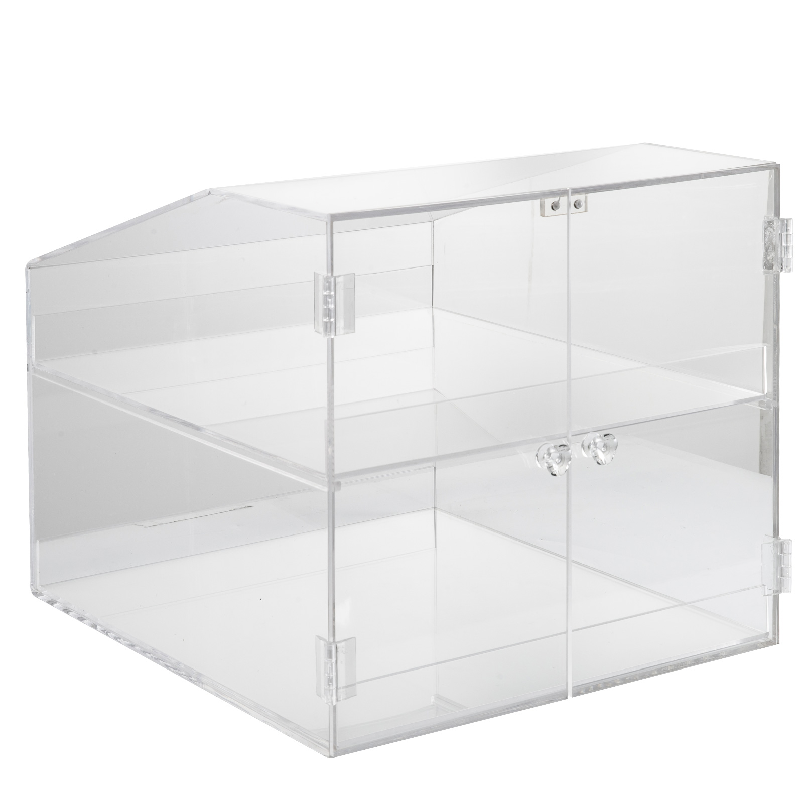 thumbnail 57 - 2-3-4-Shelves-Acrylic-Display-Cabinet-Glued-Unassembled-Bakery-Clear-Pastry