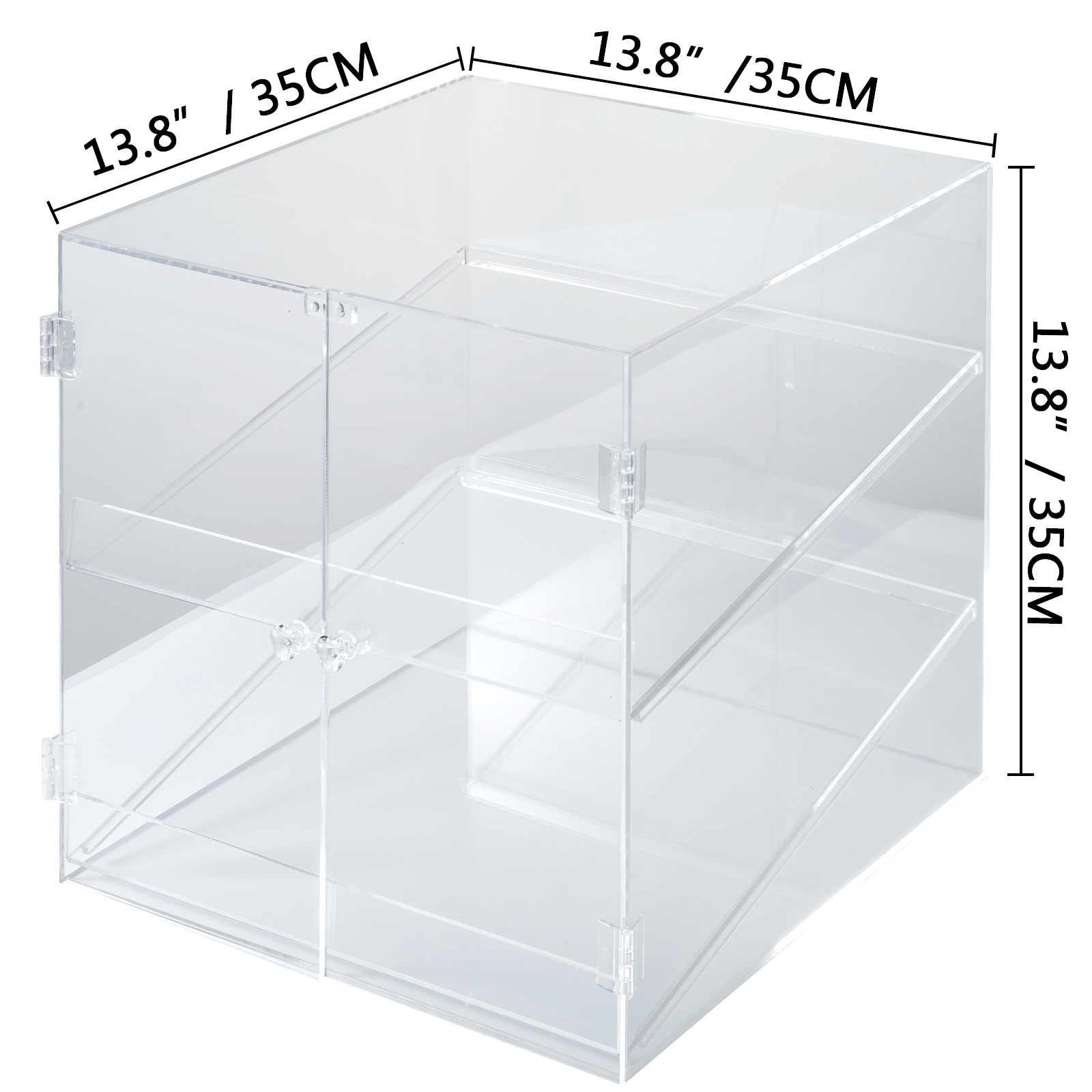 thumbnail 152 - 2-3-4-Shelves-Acrylic-Display-Cabinet-Glued-Unassembled-Bakery-Clear-Pastry